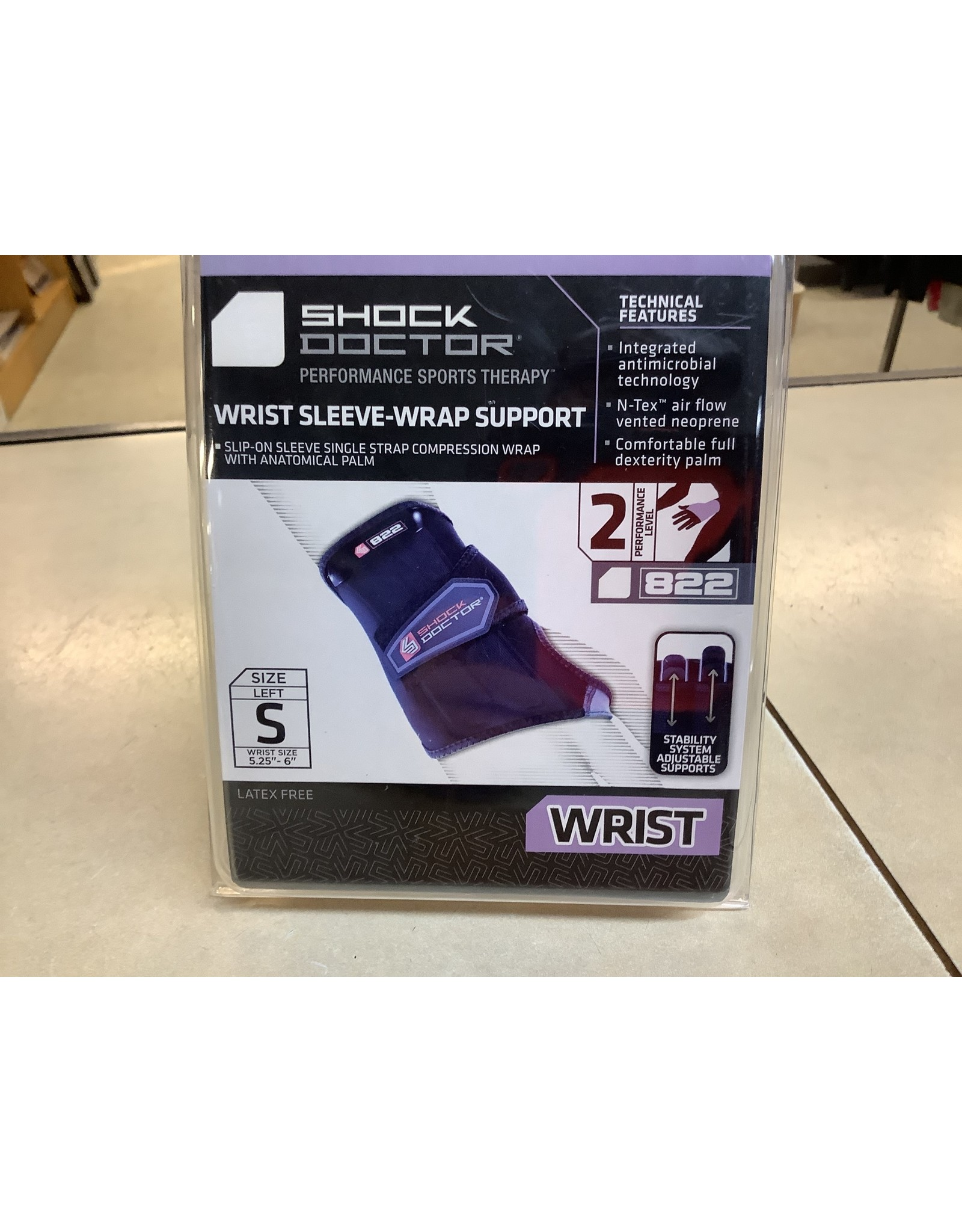 Shock Doctor 822 Wrist Sleeve-Wrap Support