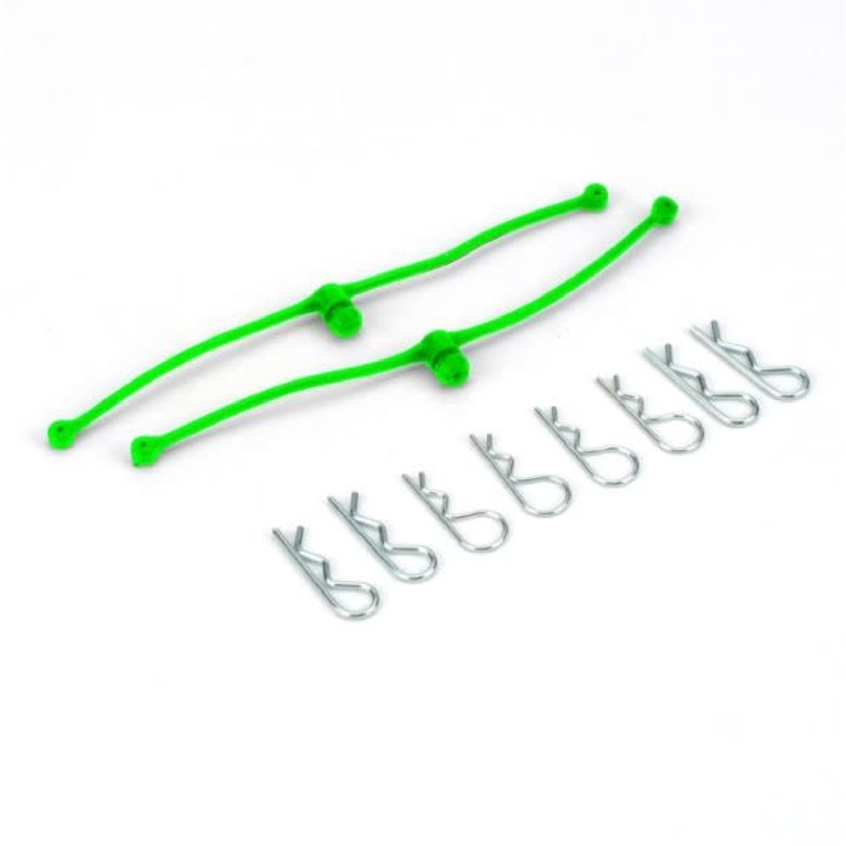 Dubro DUB2253 Dubro Body Klip Retainers Lime Green