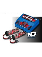 Traxxas TRA2990 Traxxas Battery/charger completer pack (includes #2972 Dual iD charger (1), #2872X 5000mAh 11.1V 3-cell 25C LiPo battery (2))