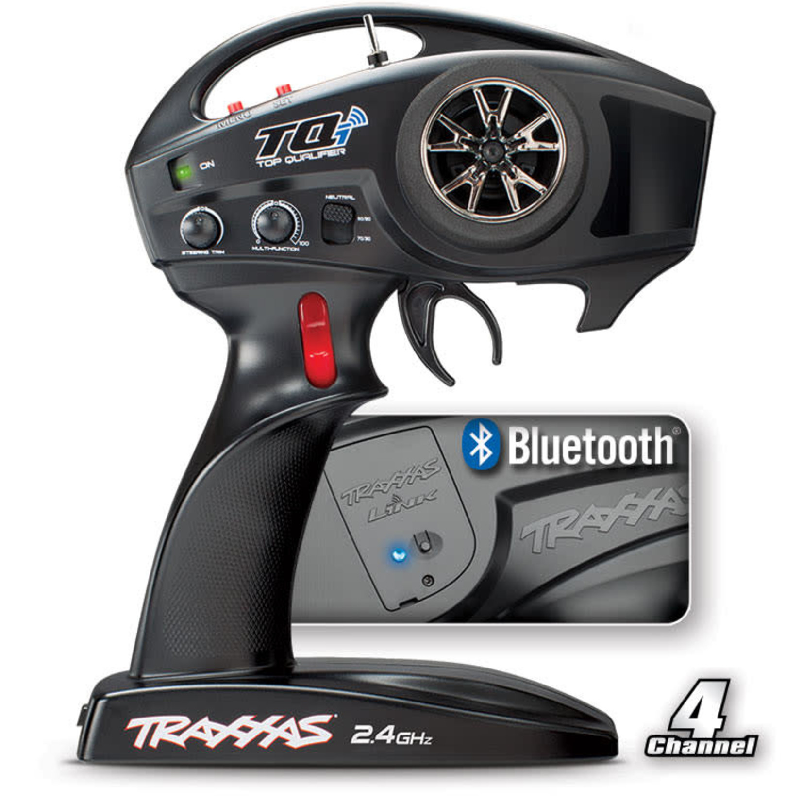Traxxas TRA6507R Traxxas TQi 2.4 Ghz High Output Radio System, 4-Channel with Traxxas Link Wireless Module, TSM (4-Ch Transmitter, 5-Ch Micro Receiver)