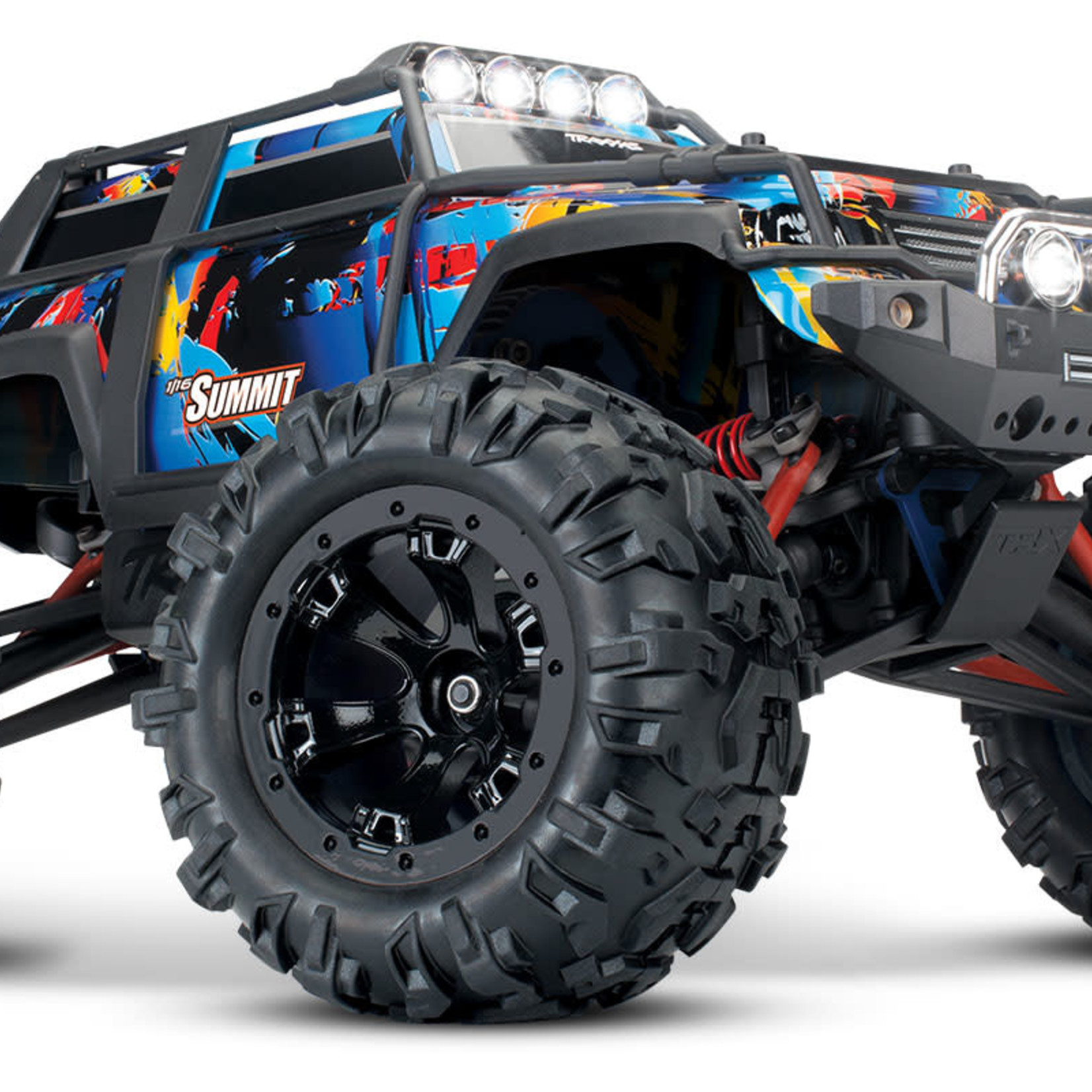 Traxxas TRA72054-5-RNR Traxxas Summit: 1/16-Scale 4WD Electric Extreme Terrain Monster Truck with TQ 2.4Ghz Radio System