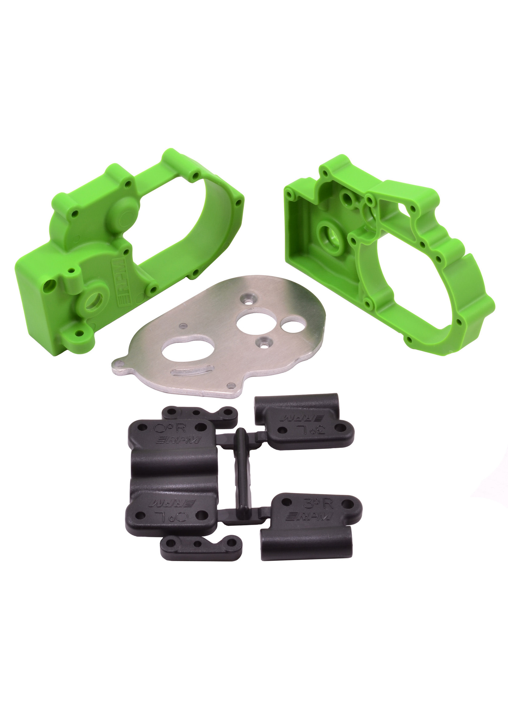 RPM RPM73614 RPM Green Gearbox Housing and Rear Mounts for Traxxas 2wd Vehicles
