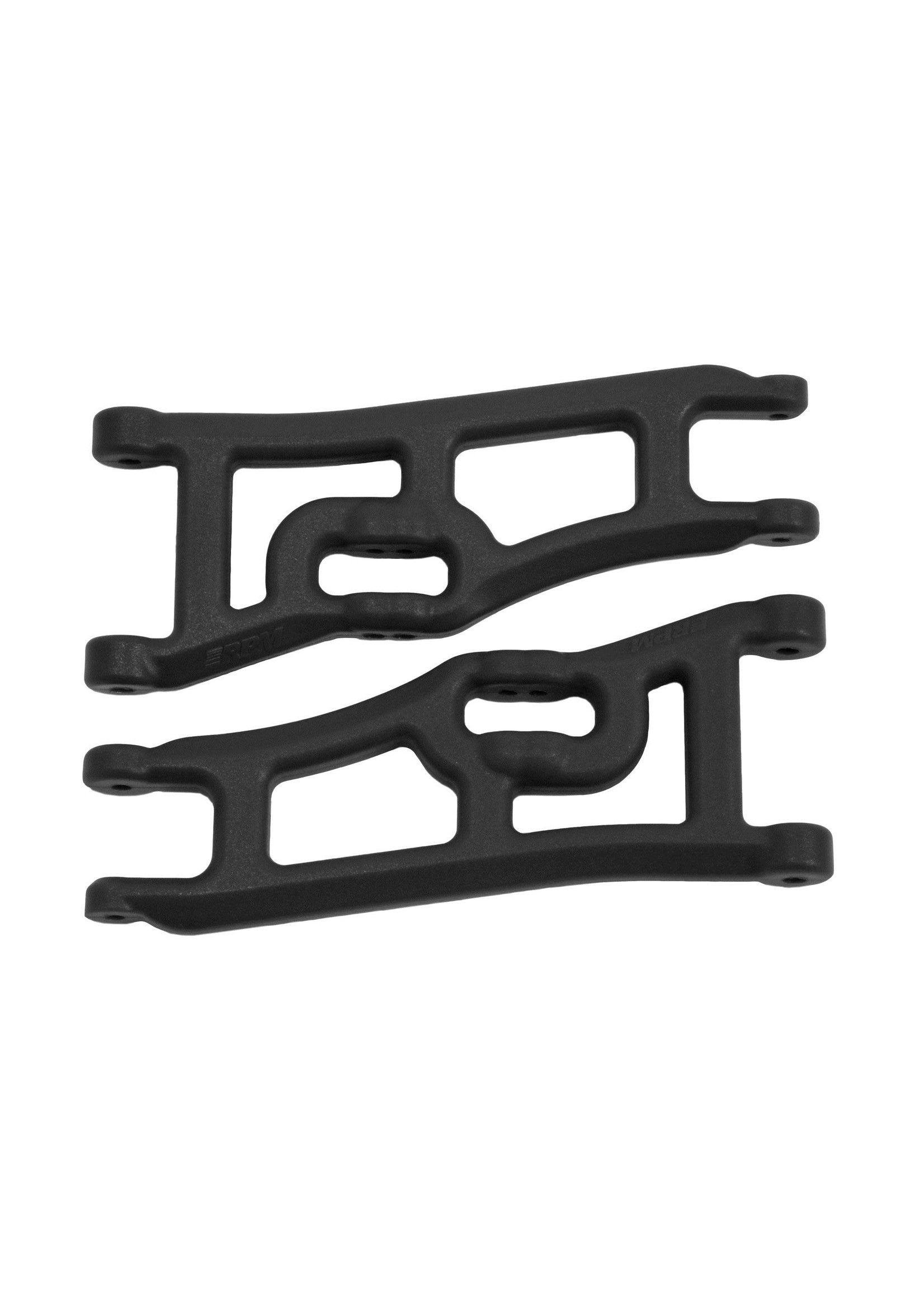 RPM RPM70662 RPM Wide Front A-arms for the Traxxas e-Rustler & Stampede 2wd - Black