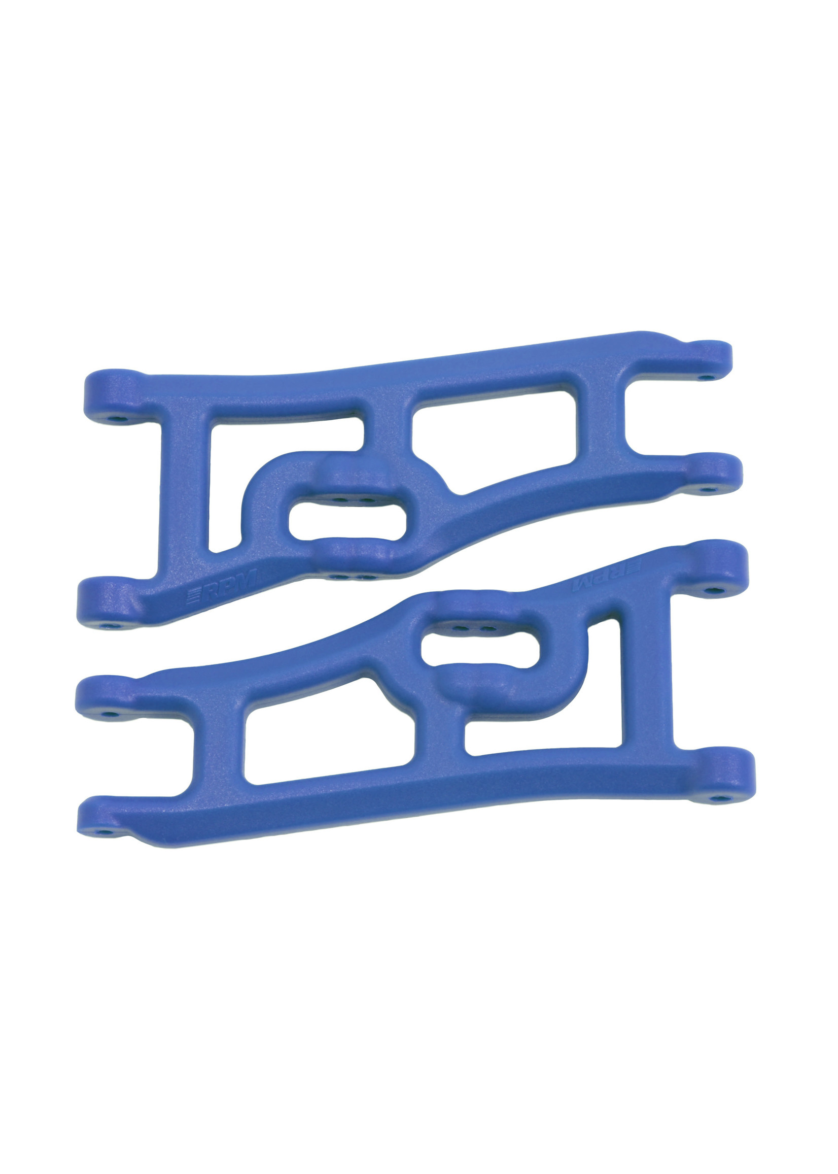 RPM RPM70665 RPM Wide Front A-arms for the Traxxas e-Rustler & Stampede 2wd - Blue