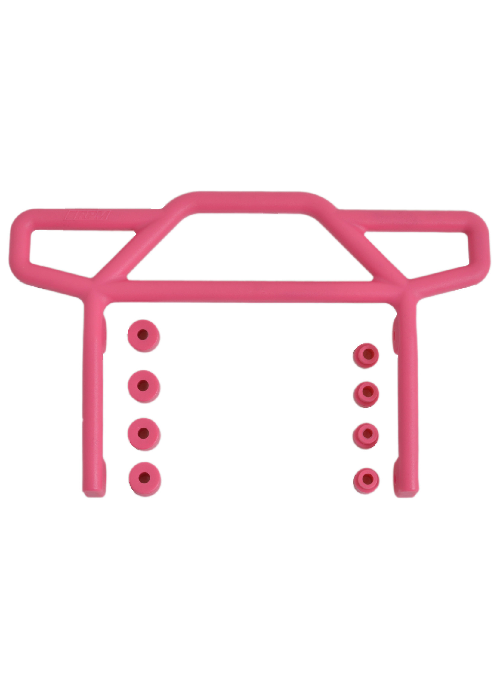 RPM RPM70817 RPM Rear Bumper, Pink, for Traxxas Electric Rustler