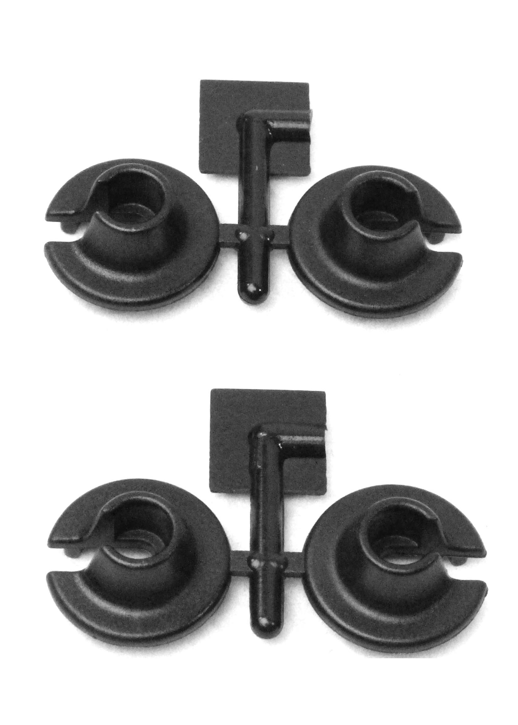 RPM RPM73152 RPM Black Shock Spring Cups - Losi, Traxxas, Assoc. MGT & HPI Savage Shocks