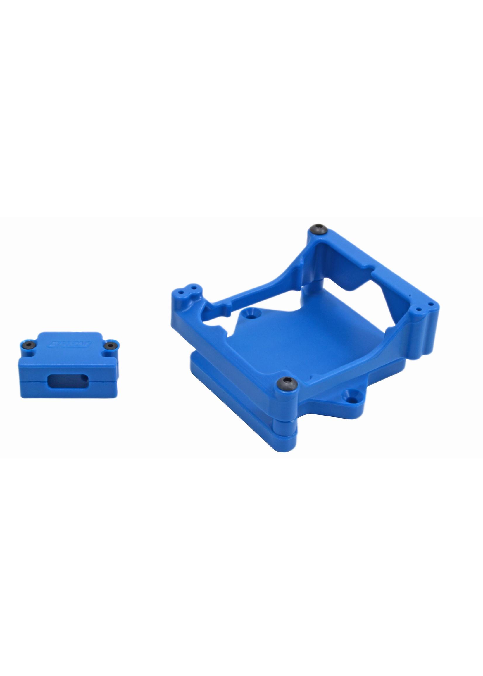 RPM RPM81325 RPM Blue ESC Cage for the Castle Sidewinder 4 ESC