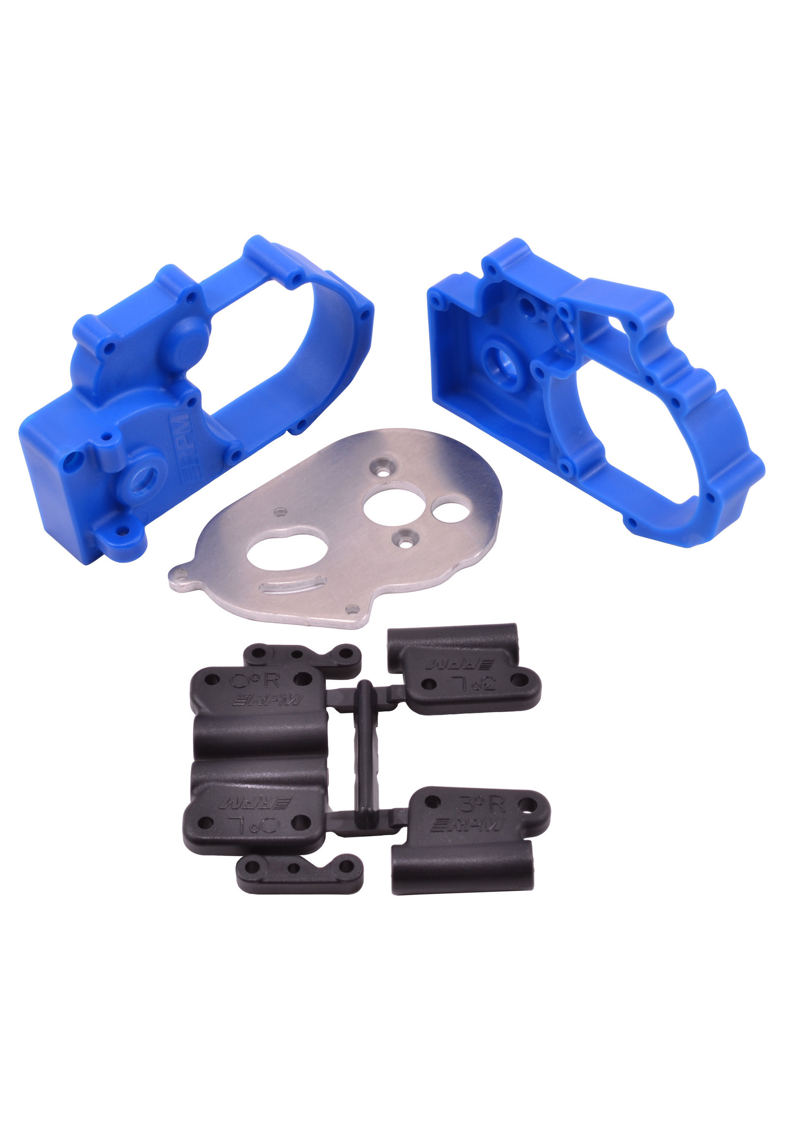 RPM RPM73615 RPM Blue Gearbox Housing and Rear Mounts for Traxxas 2wd Vehicles