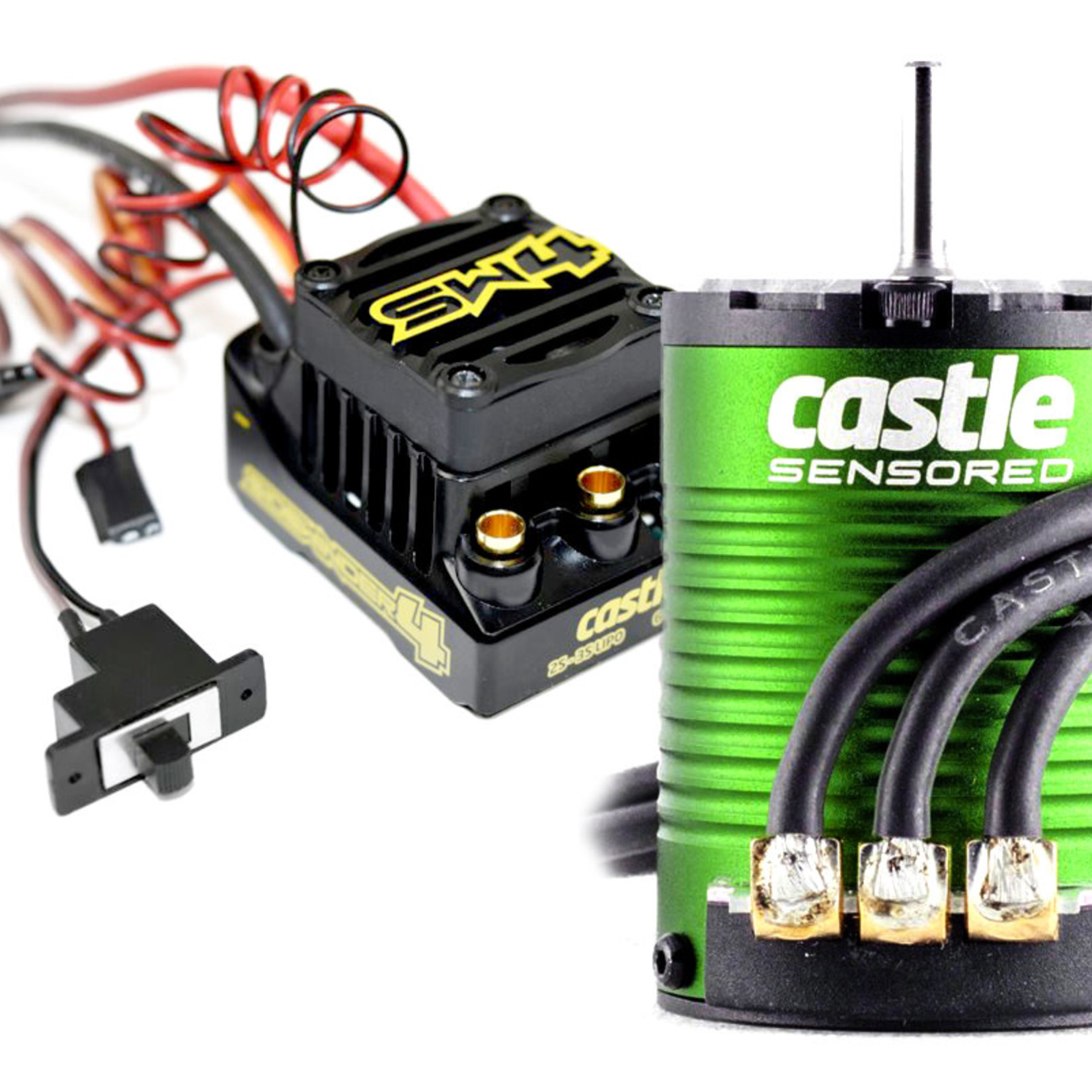 Castle Creations CSE010-0164-05 Castle Creations Sidewinder 4 Waterproof Sensorless ESC, w/ 1410-3800kv Sensored Motor