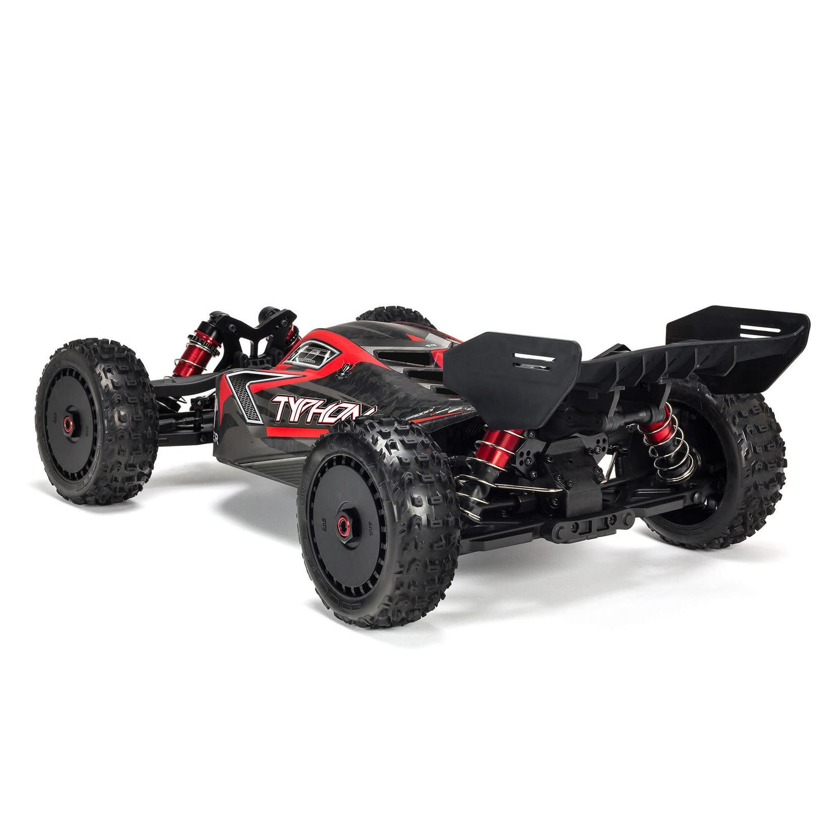 ARRMA ARA8606V5 Arrma 1/8 TYPHON 6S V5 4WD BLX Buggy with Spektrum Firma RTR, Black