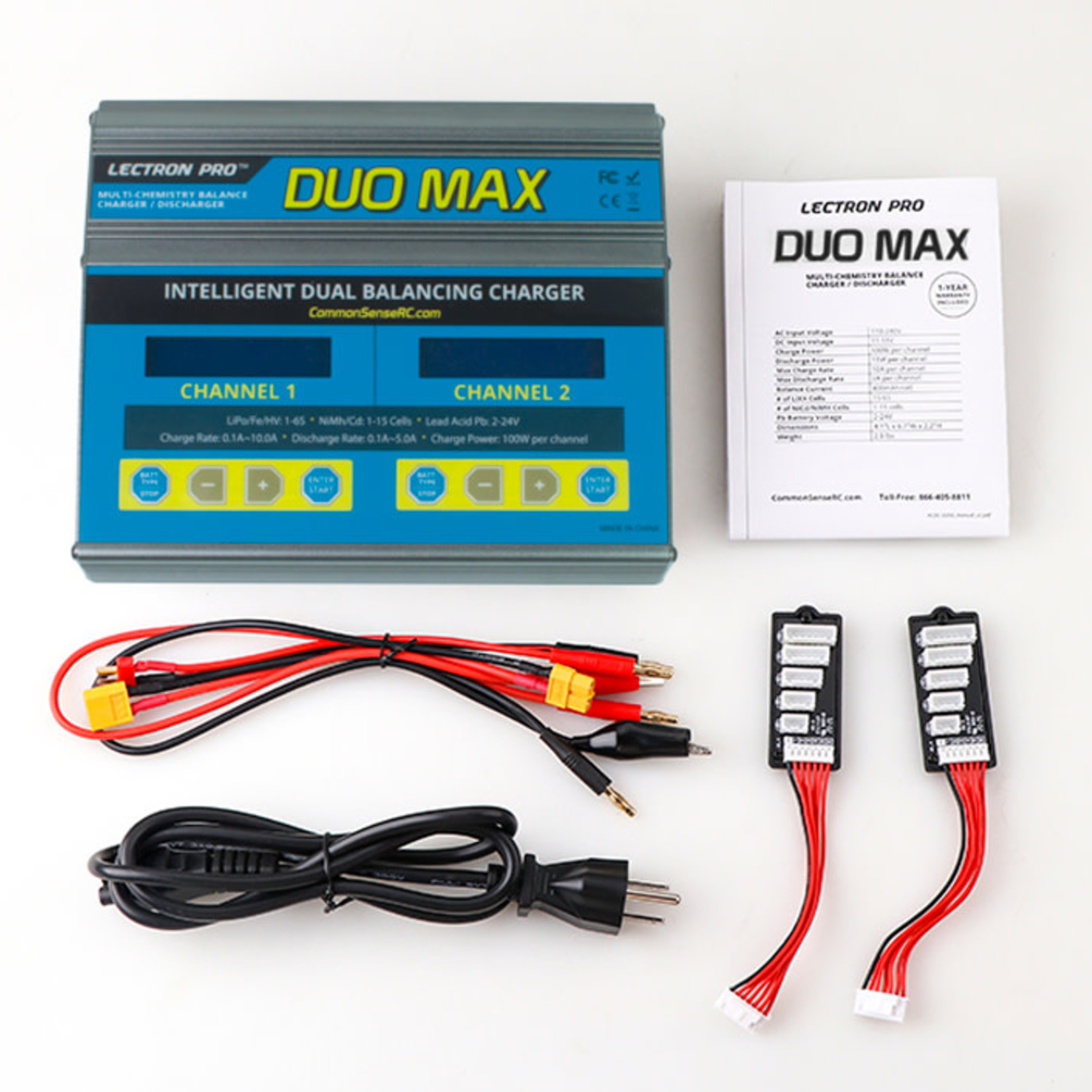 Common Sense RC CSRCACDC-D200 Common Sense RC DUO MAX - 200W 10A Two-Port Multi-Chemistry Balancing Charger