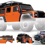 Traxxas TRA8011A Traxxas Body, Land Rover Defender, Adventure Orange (Complete with Exocage, Inner Fenders, Fuel Canisters, And Jack)