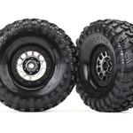 Traxxas TRA8174 Traxxas Tires And Wheels, Assembled (Method 105 1.9? Black Chrome Beadlock Wheels, Canyon Trail 4.6X1.9? Tires, Foam Inserts) (1 Left, 1 Right)