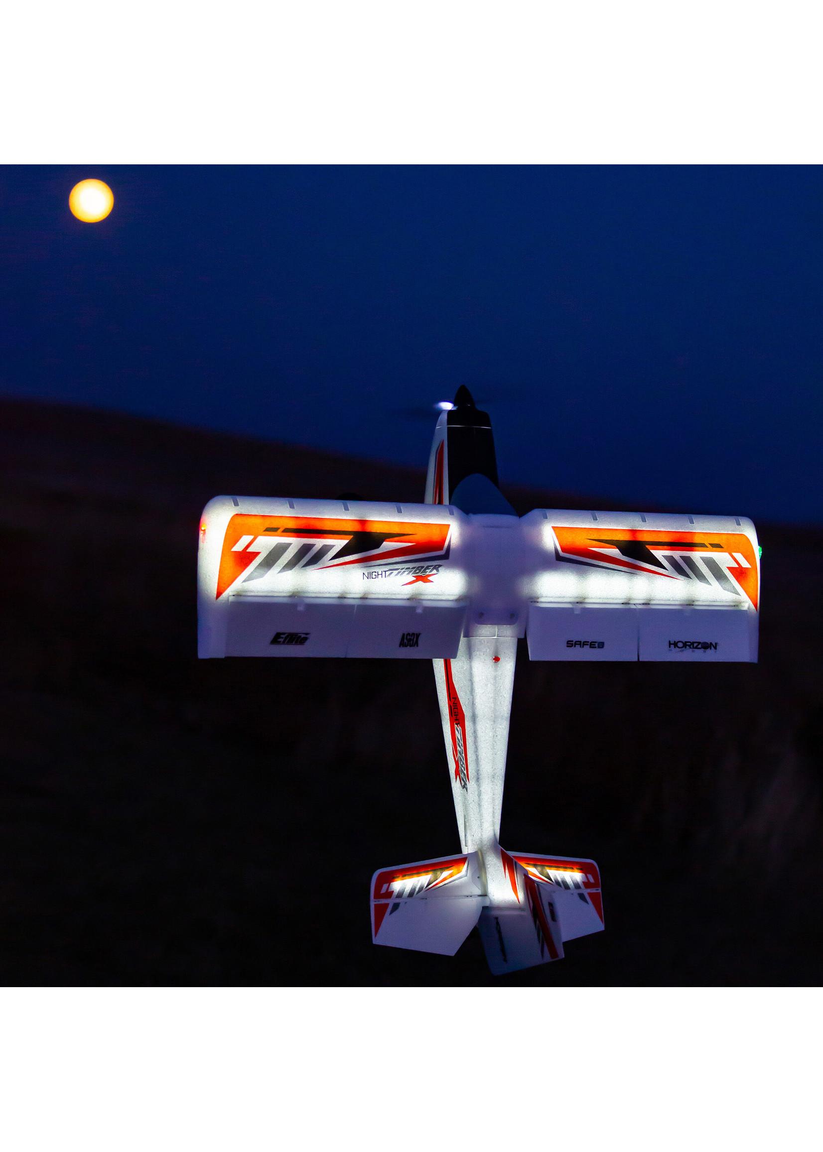 E-Flite EFL13850 E-Flite Night Timber X 1.2M BNF Basic w/AS3X & SAFE Select