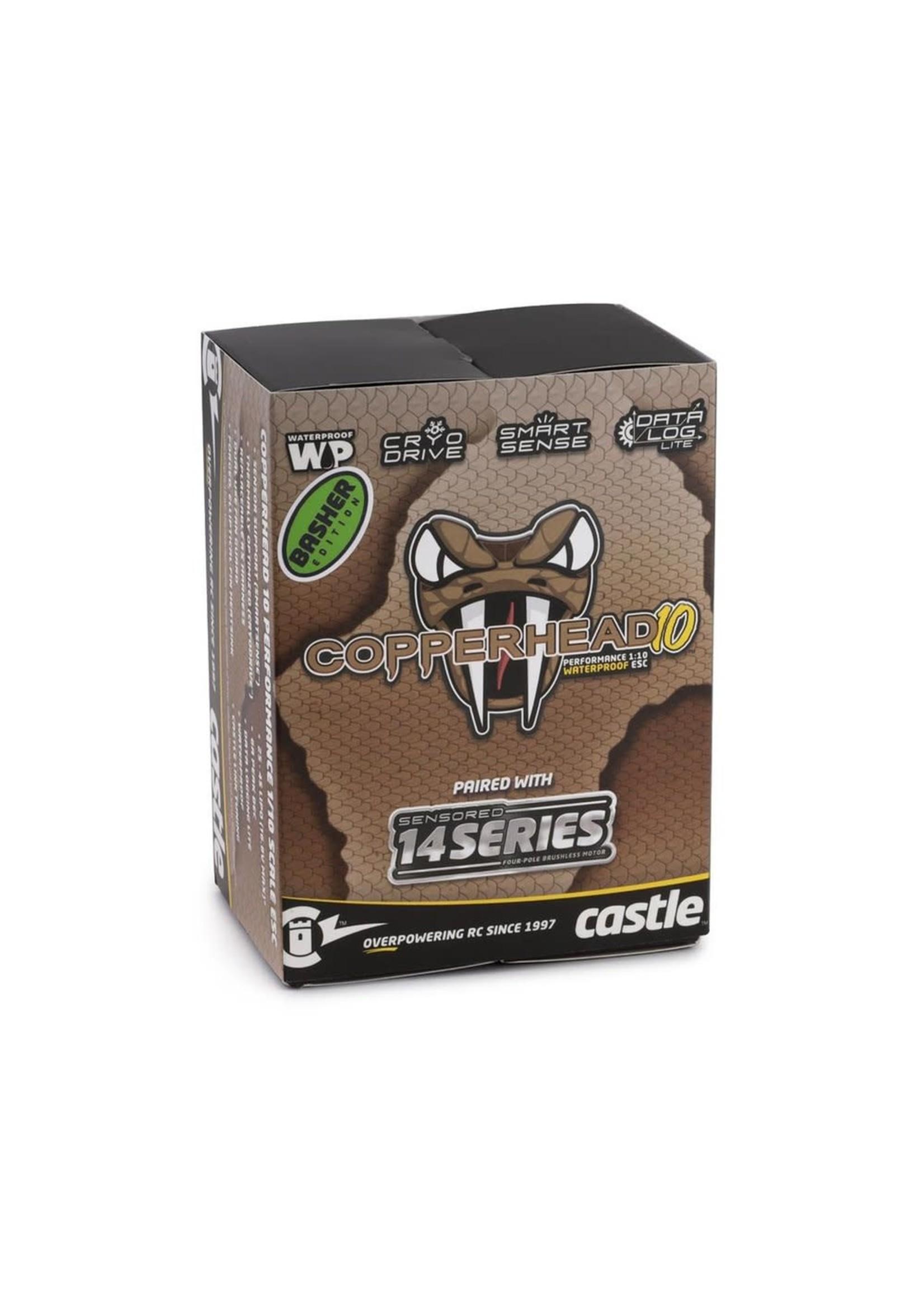 Castle Creations CSE010-0166-11 Castle Creations Copperhead 10 Waterproof 1/10 Sensored Combo w/1410 (3800Kv)