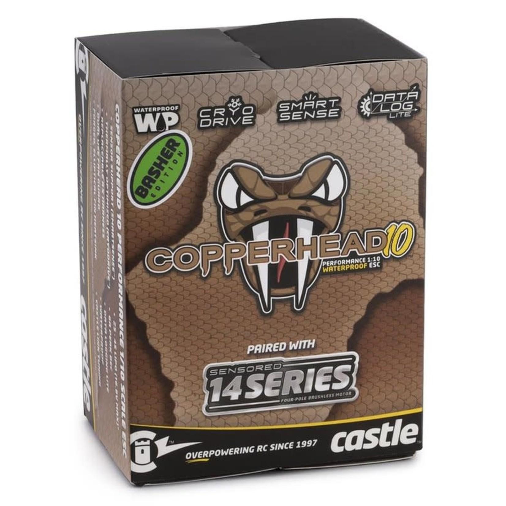 "Castle Creations CSE010-0166-09 Castle Creations Copperhead 10 ""Limited Edition"" Sensored Combo w/1412 (3200Kv) (SCT Edition)"