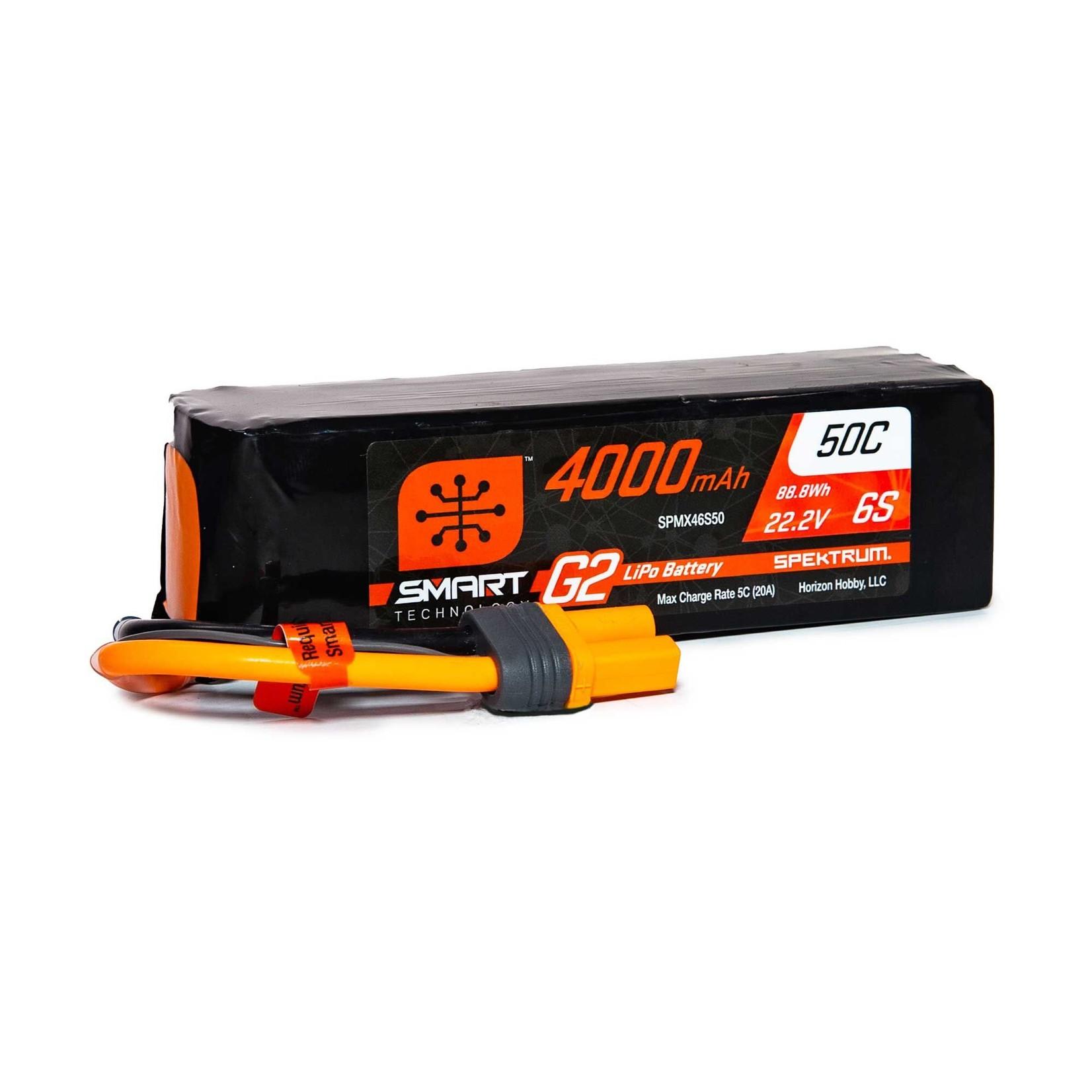 Spektrum SPMX46S50 22.2V 4000mAh 6S 50C Smart LiPo G2: IC5