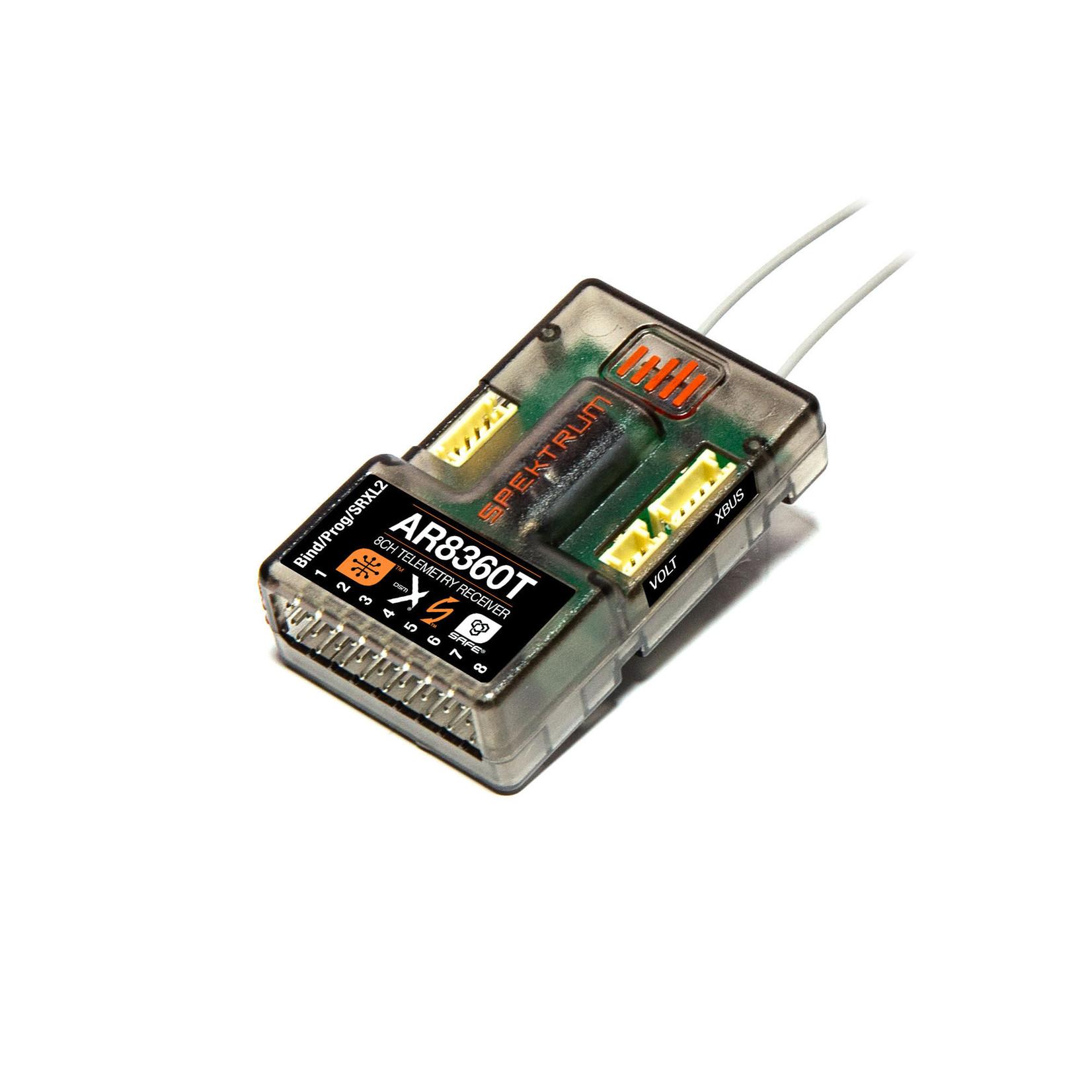 Spektrum SPMAR8360T Spektrum DSMX 8-Channel AS3X & SAFE Telemetry Receiver