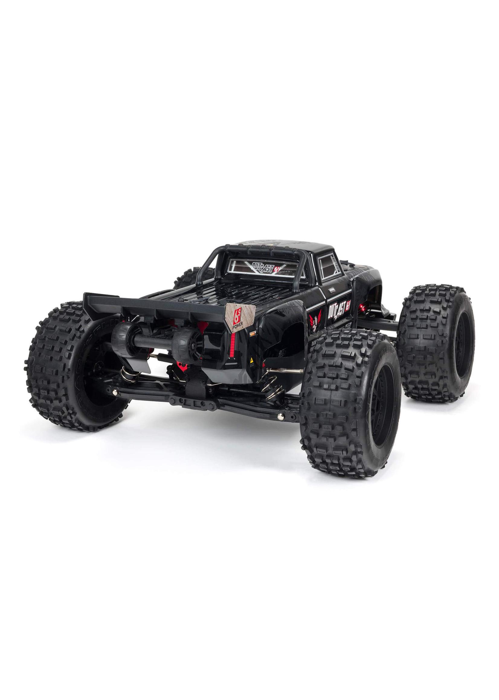 ARRMA ARA8710 ARRMA 1/8 Outcast 6S BLX 4WD EXtreme Bash Stunt Truck RTR, Black