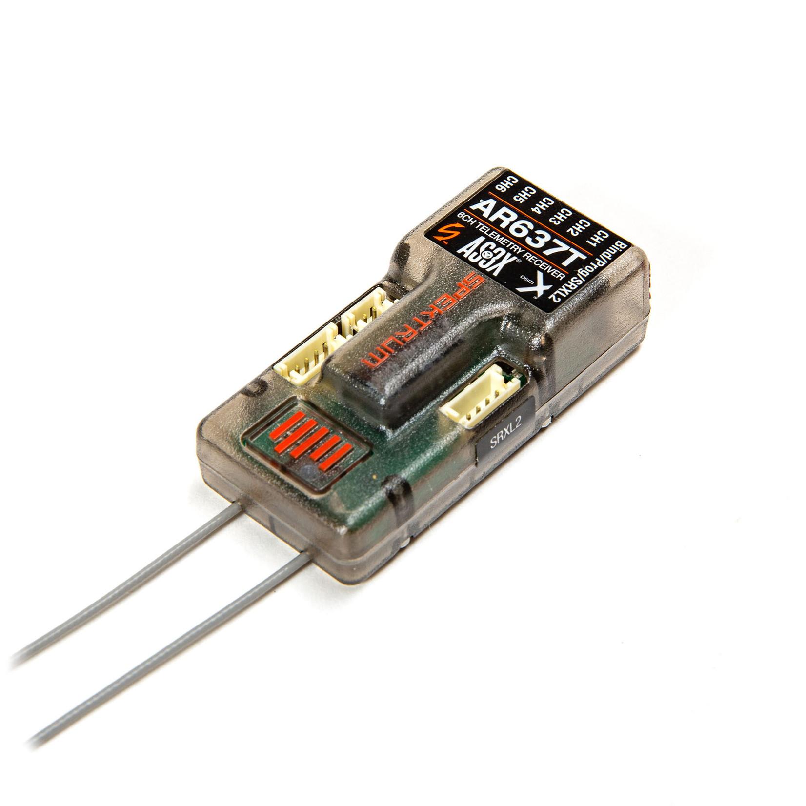 Spektrum SPMAR637T Spektrum AR637T 6 Channel SAFE and AS3X Telemetry Receiver