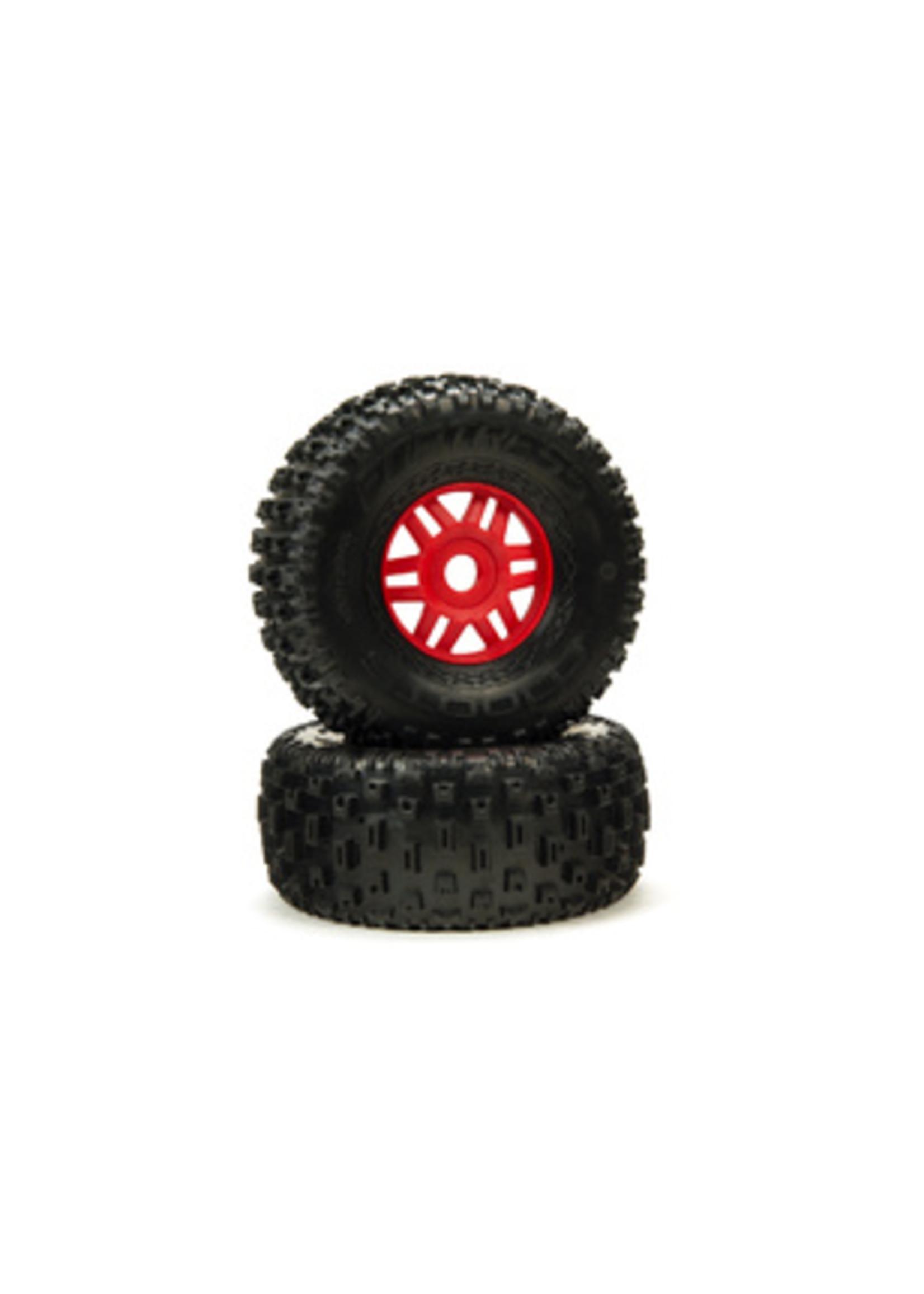 ARRMA ARA550065 Arrrma DBOOTS 'Fortress' Tire Set Glued (Red) (2pcs)