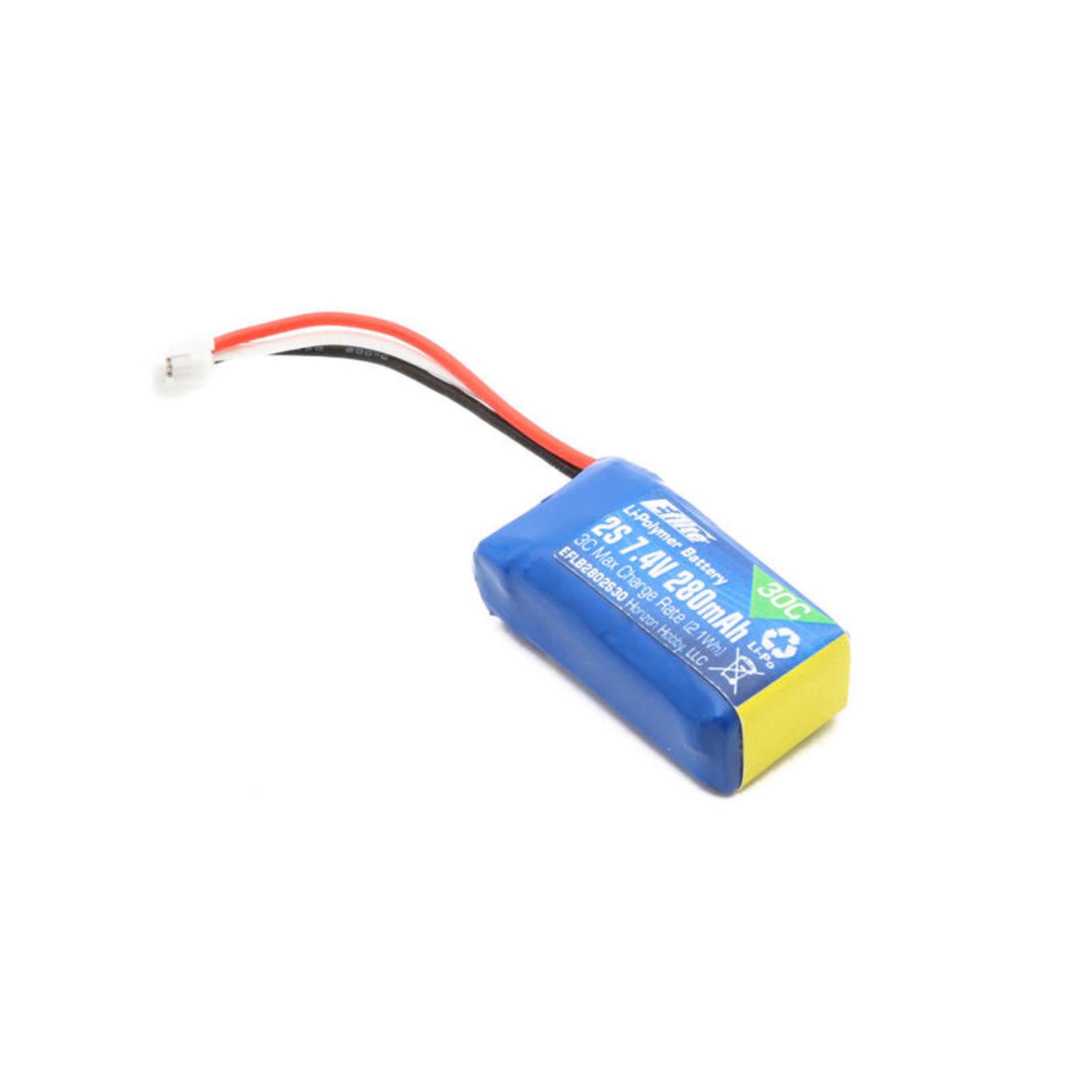 E-Flite EFLB2802S30 E-Flite 280mAh 2S 7.4V 30C Li-Po Battery