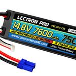 Lectron Pro CSRC4S7600-755 Lectron Pro 14.8V 7600mAh 75C Hard Case Lipo Battery w/ EC5