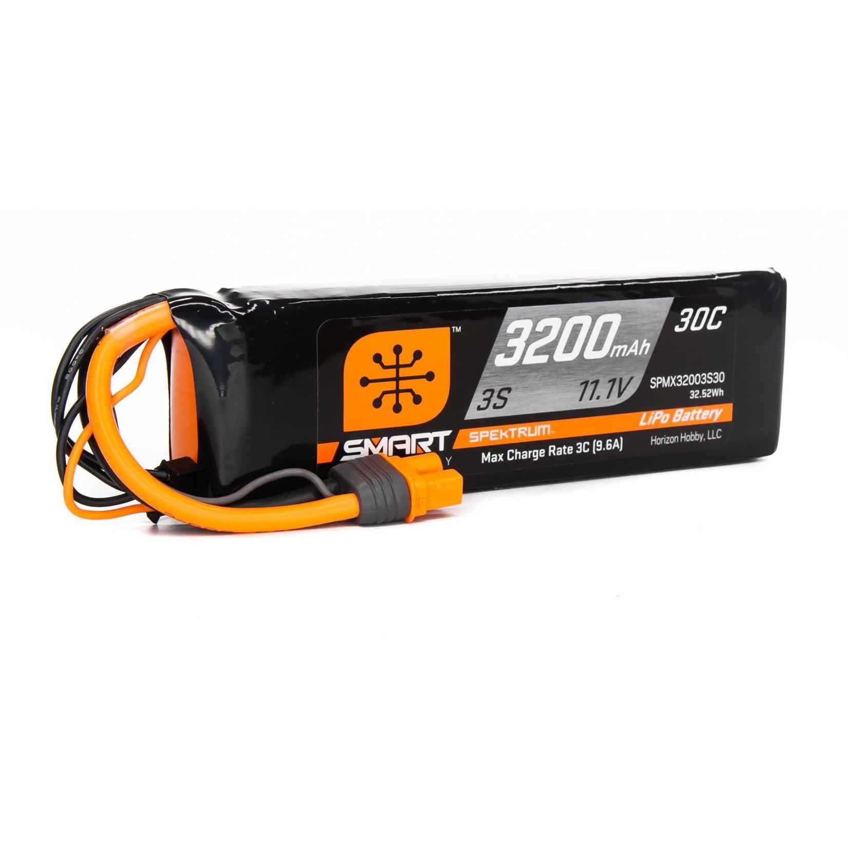 Spektrum SPMX32003S30 Spektrum 3200mAh 3S 11.1V Smart LiPo 30C; IC3