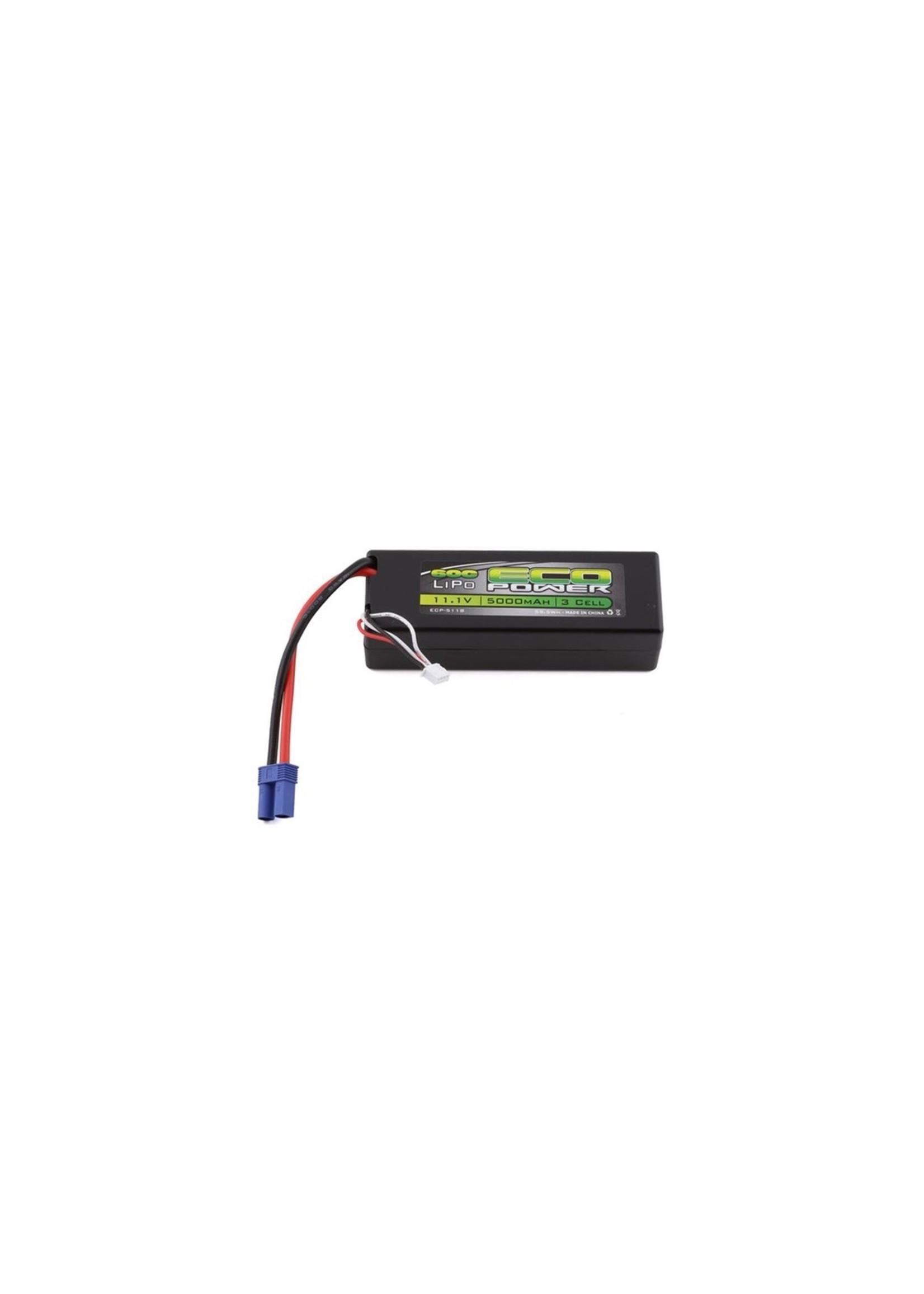 "EcoPower ECP-5118 EcoPower ""Basher"" 3S 60C Hard Case LiPo Battery w/EC5 (11.1V/5000mAh)"