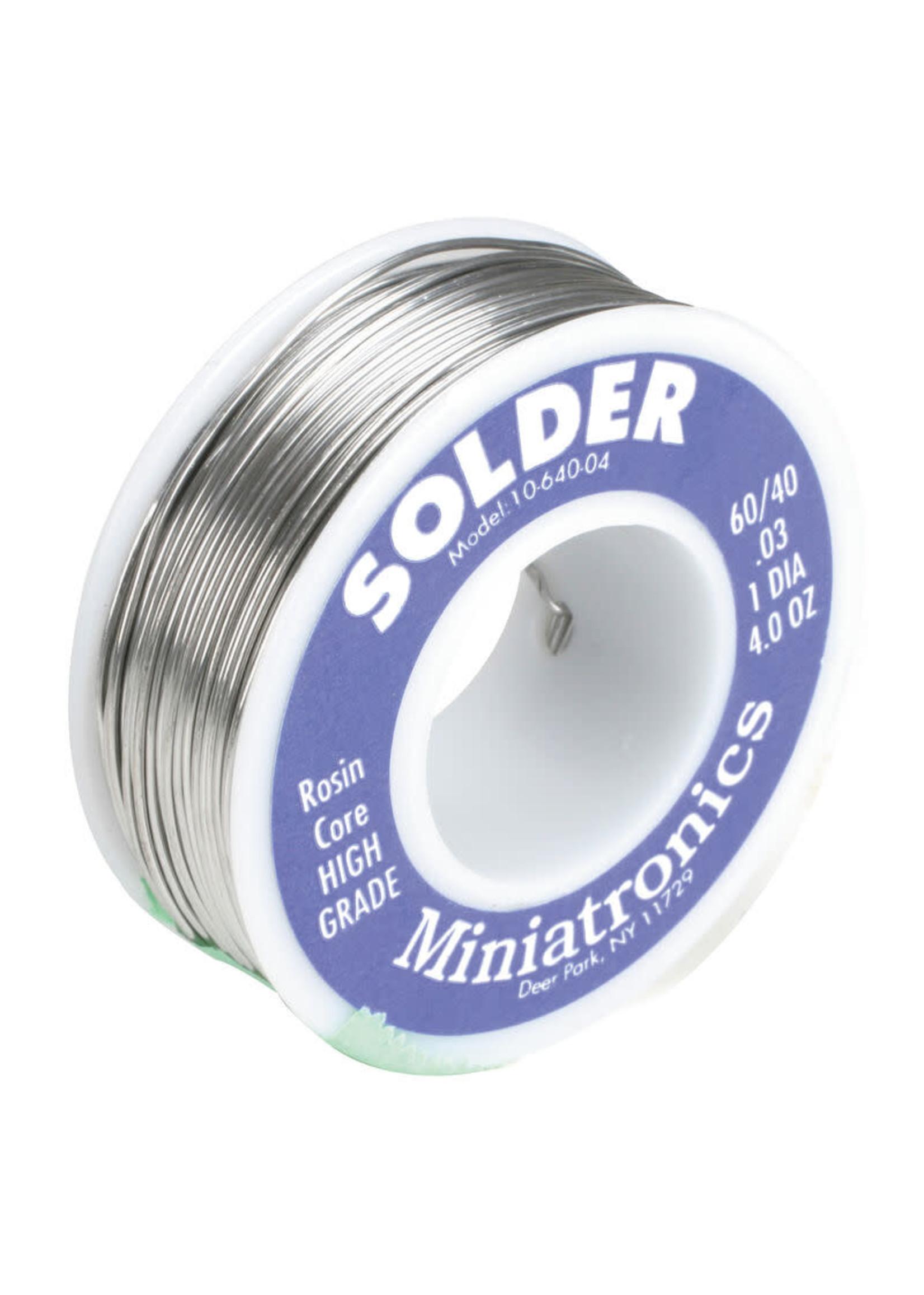 Miniatronics MNT1064004 Miniatronics Rosin Core Solder 60/40, 4oz