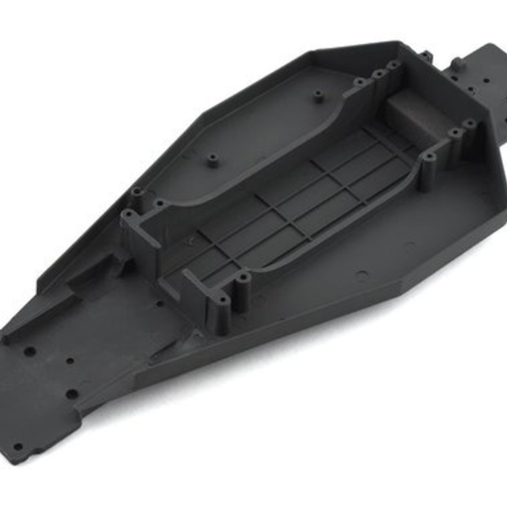 Traxxas TRA3722R Traxxas Lower Chassis (Grey) (166mm Long Battery Compartment) (Fits Both Flat And Hump Style Battery Packs) (Use Only with #3725R ESC Mounting Plate)