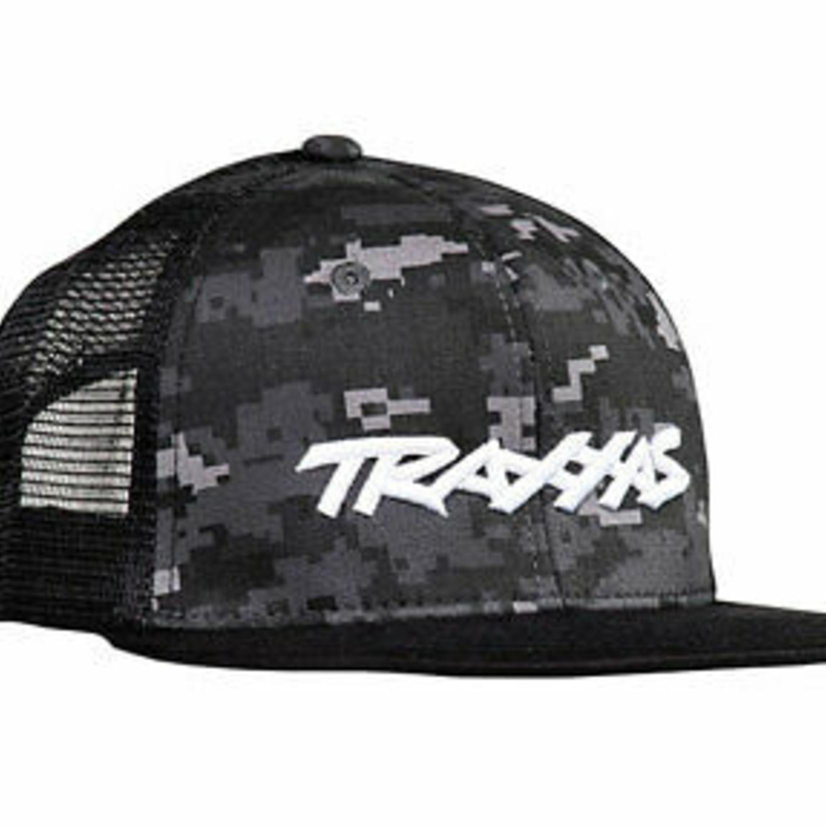 Traxxas TRA1184-CAMO Traxxas Logo Hat Flat Bill Bla