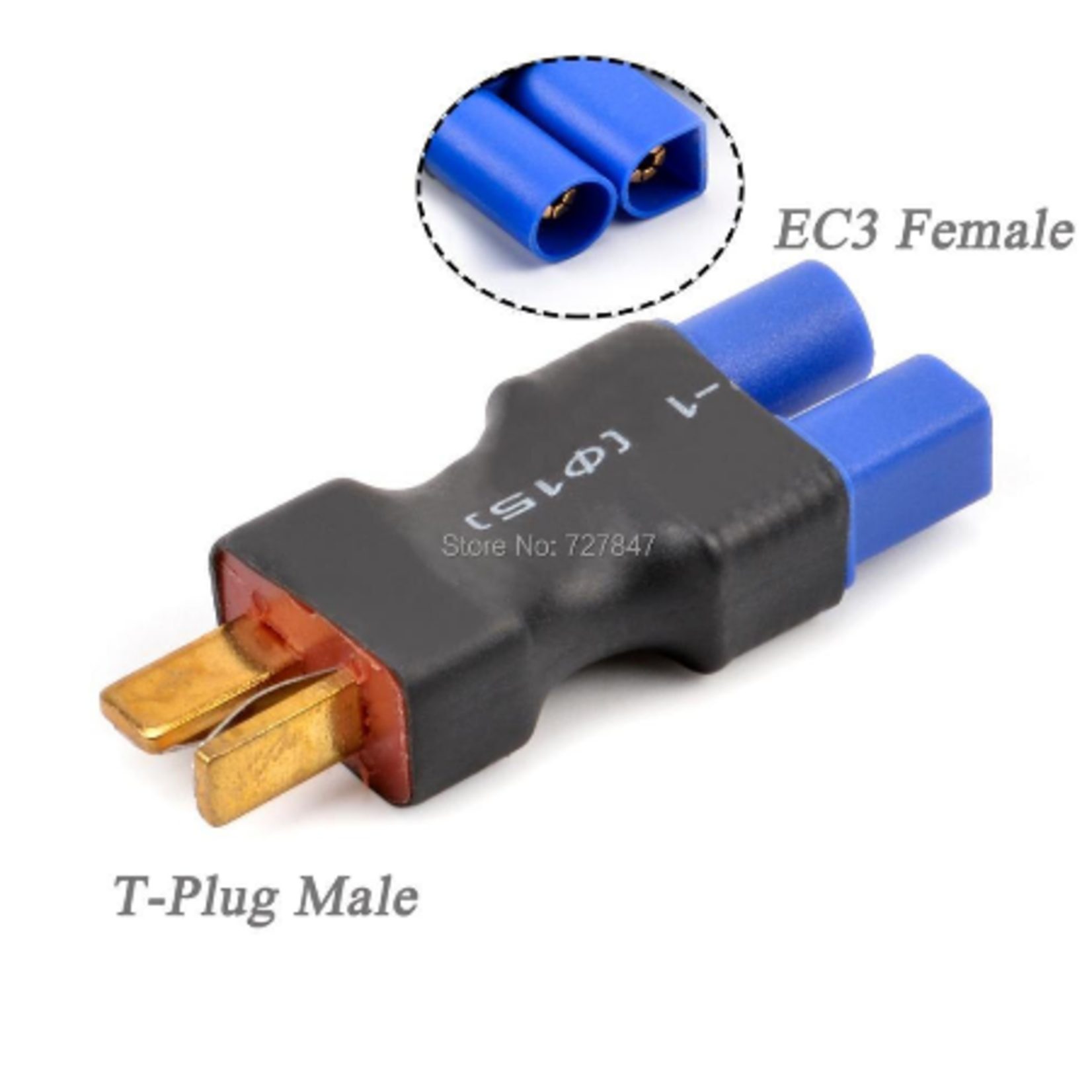 Hobby Details DTC27008 EC5 Male to Deans Female Adapter