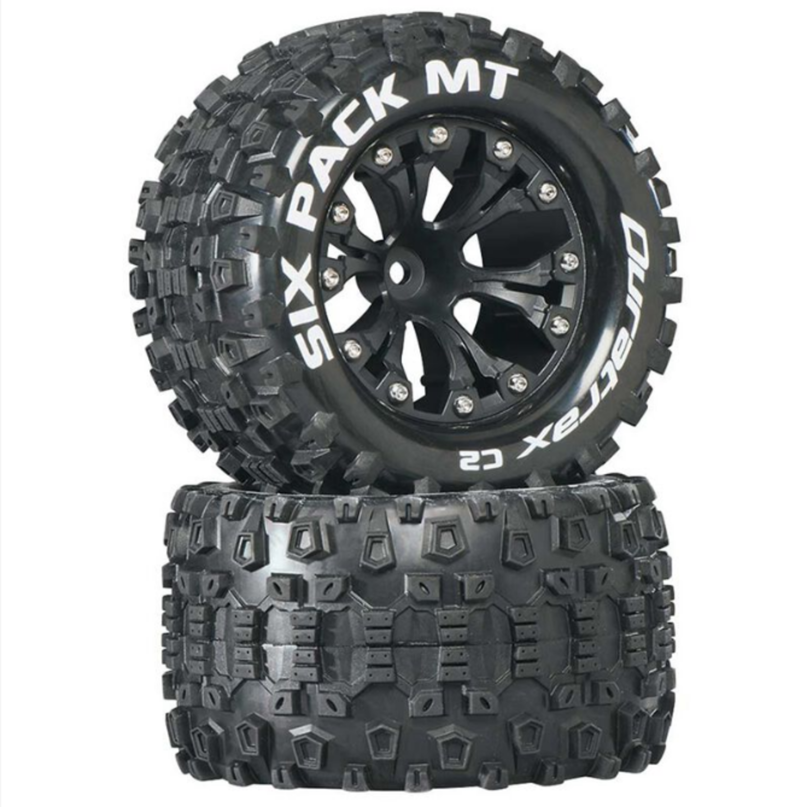 Duratrax DTXC3522 Duratrax Six-Pack MT 2.8'' 2WD Mounted 1/2'' Offset Tires, Black (2)