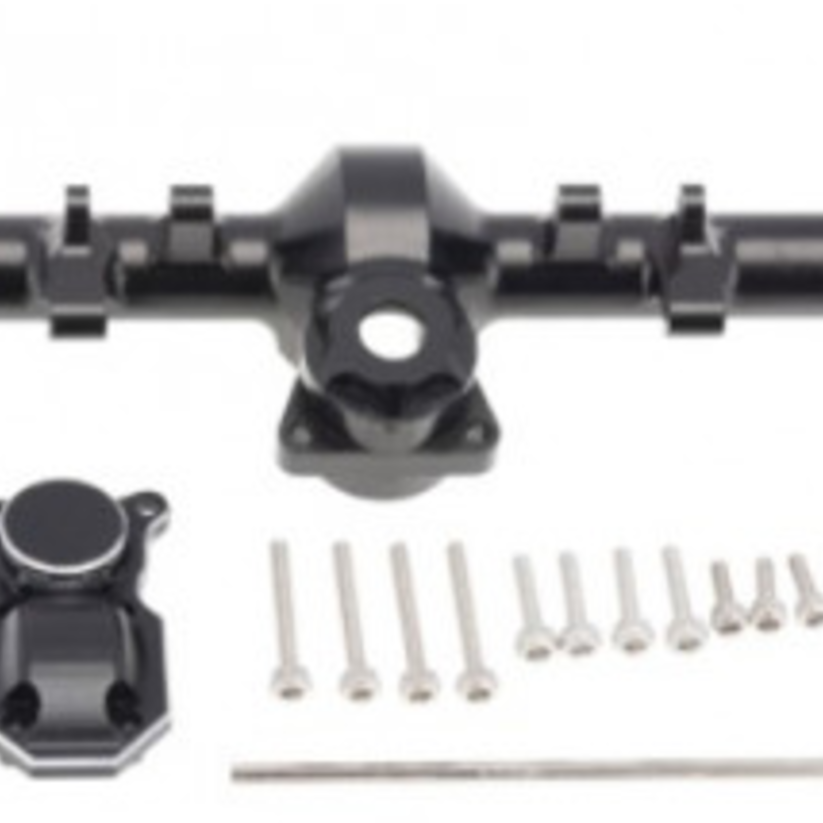 Hobby Details DTSCX24-18 Hobby Details Axial SCX24 Aluminum Alloy Rear Axle Housing Black with Cover 1pc