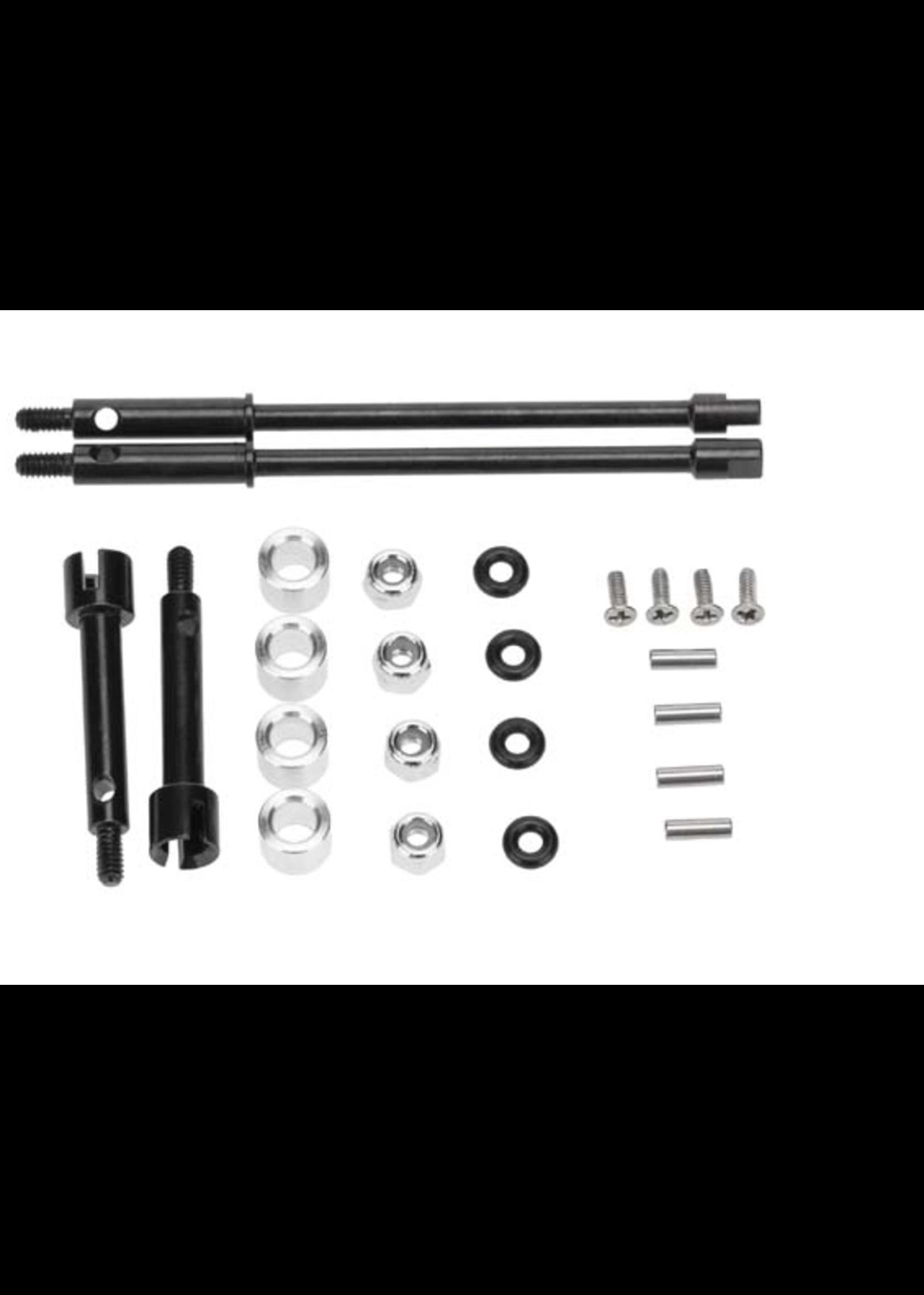 Hobby Details DTSCX24-27 Hobby Details Axial SCX24 +4mm Steel Drive Stub Axles