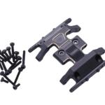 Hobby Details DTSCX24-42 SCX24 Brass Middle Gearbox Skidplate, 13.8g, Black