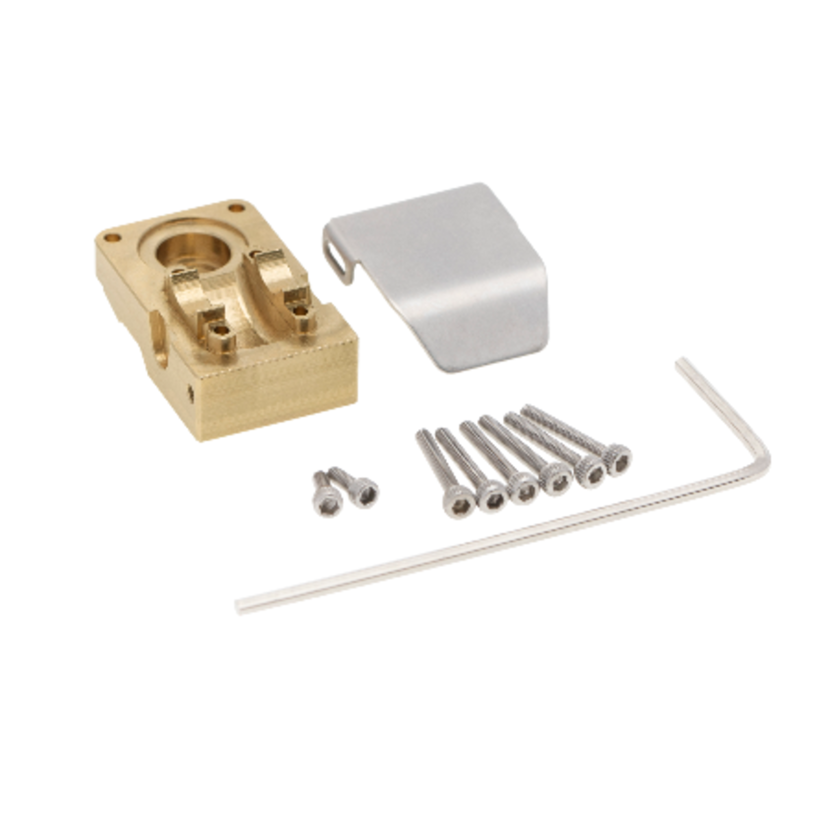 Hobby Details DTSCX24-3 Hobby Details Axial SCX24 Brass Counterweight Cup and Armor Guard Plate 1 set