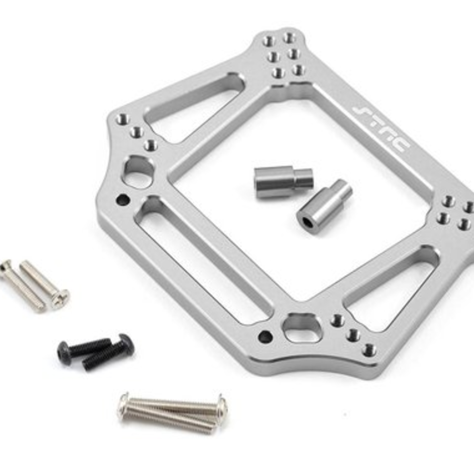 ST Racing Concepts SPTST3639S ST Racing Concepts Aluminum 6mm Heavy Duty Front Shock Tower for Traxxas Stampede/Rustler/Bandit/Slash (Silver)