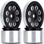 Hobby Details DTSCX24-47B SCX24 Aluminum Flower 8-Hole Beadlock Wheels, Black