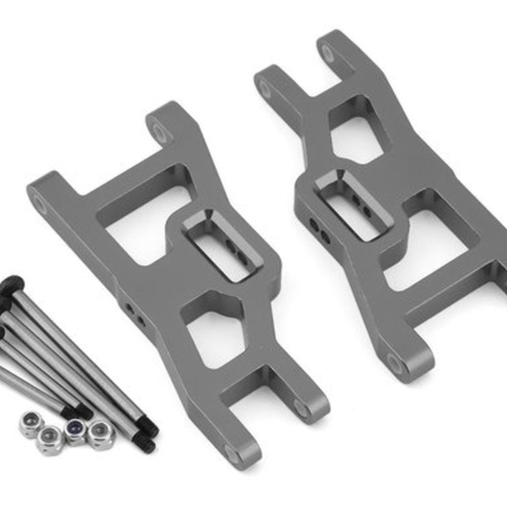 ST Racing Concepts SPTST3631XGM ST Racing Concepts Green Heavy Duty Front Suspension Arms Kit w/ Lock-Nut Hinge-Pins, for Traxxas Rustler/Stampede (Gun Metal)
