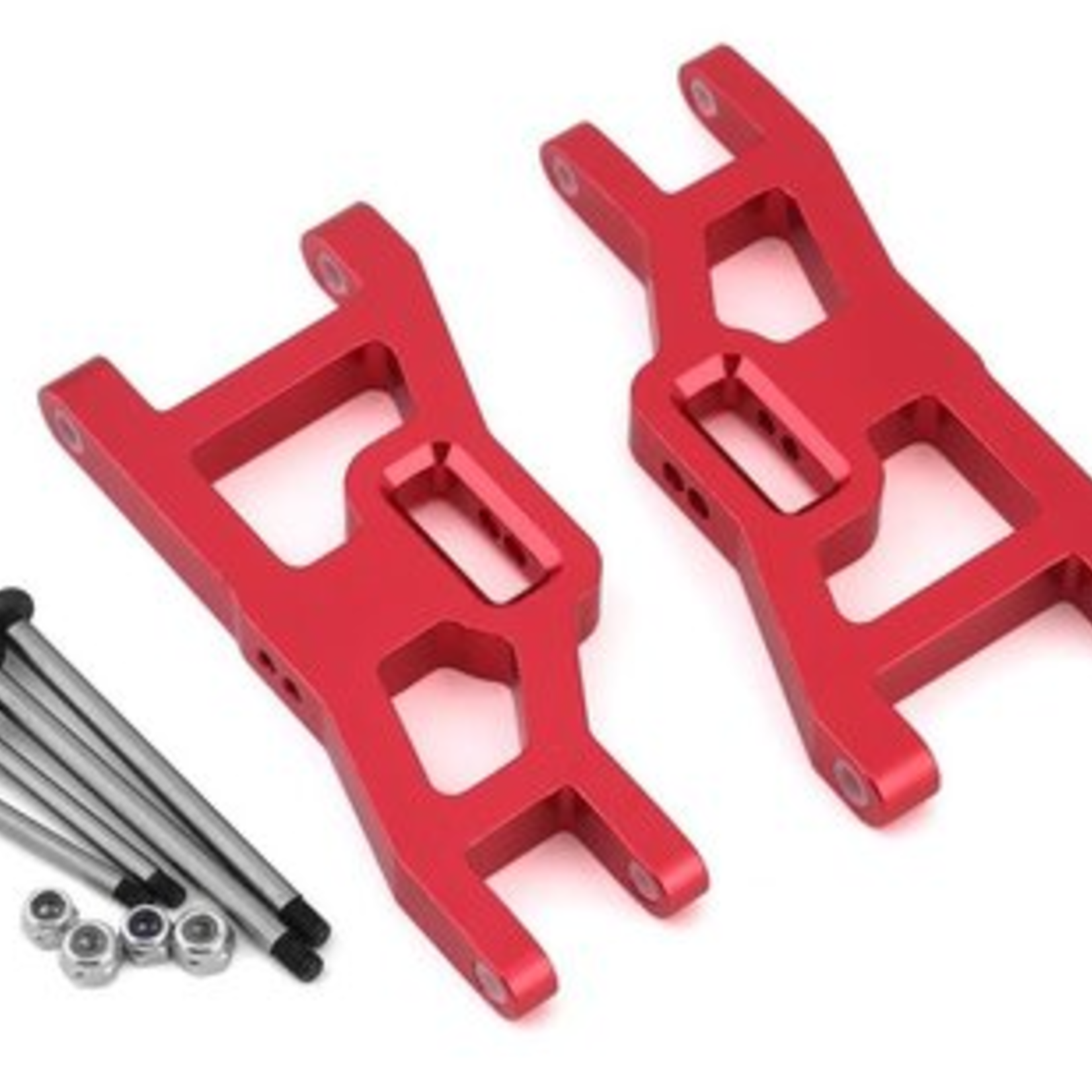 ST Racing Concepts SPTST3631XR ST Racing Concepts Red Heavy Duty Front Suspension Arms Kit w/ Lock-Nut Hinge-Pins, for Traxxas Rustler/Stampede (Red)