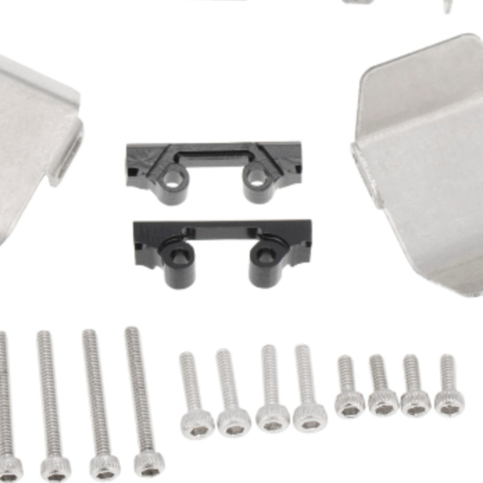 Hobby Details DTSCX24-21 Hobby Details Axial SCX24 Stainless Steel Chassis Armor Skid Plate Guard Parts 3pcs/set