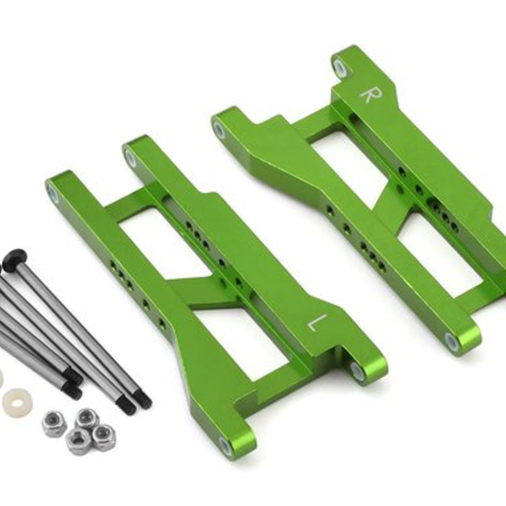 ST Racing Concepts SPTST2555XG ST Racing Concepts CNC Machined Aluminum Rear A-Arm set (w/steel hinge-pins) for Traxxas Slash (Green)