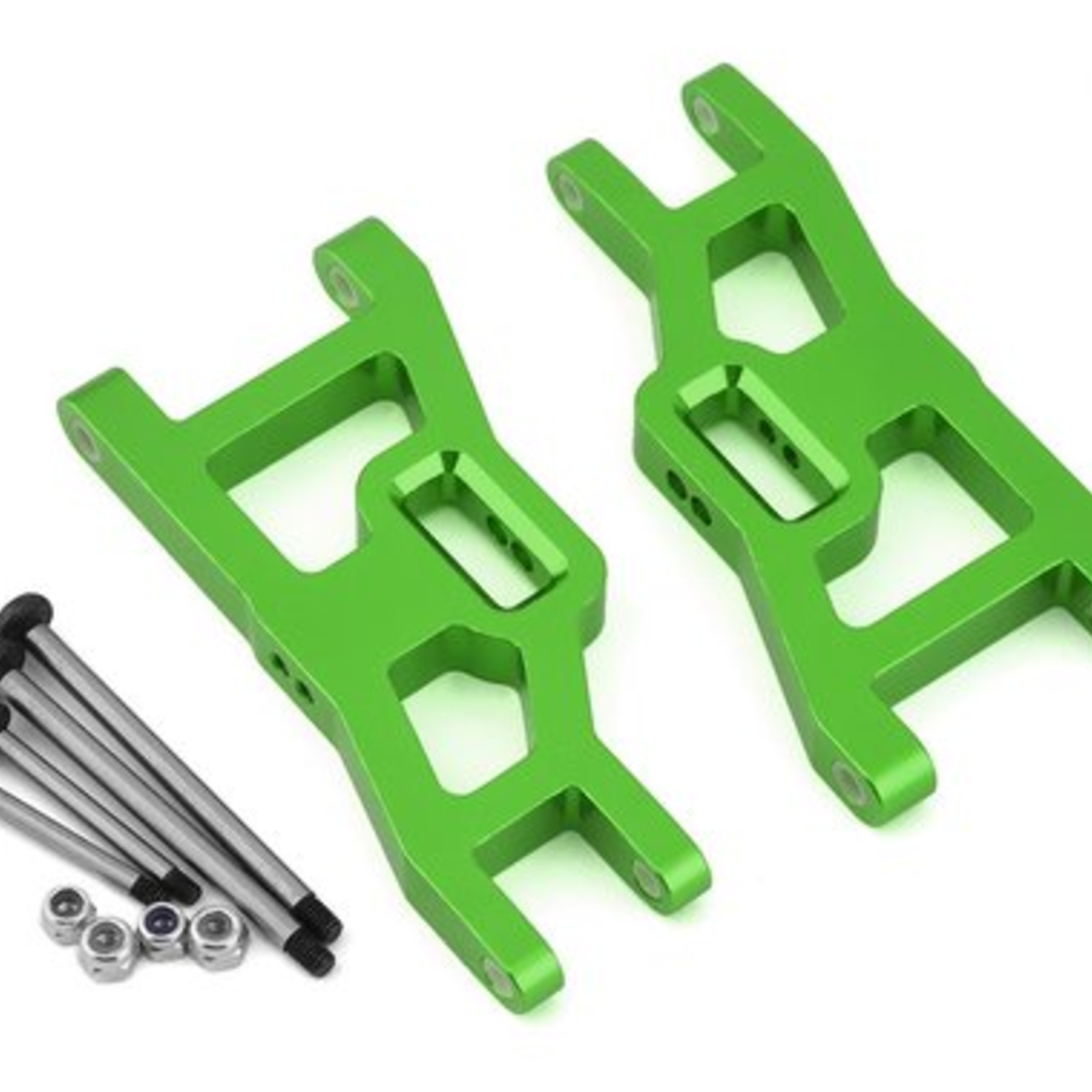ST Racing Concepts SPTST3631XG ST Racing Concepts Green Heavy Duty Front Suspension Arms Kit w/ Lock-Nut Hinge-Pins, for Traxxas Rustler/Stampede (Green)