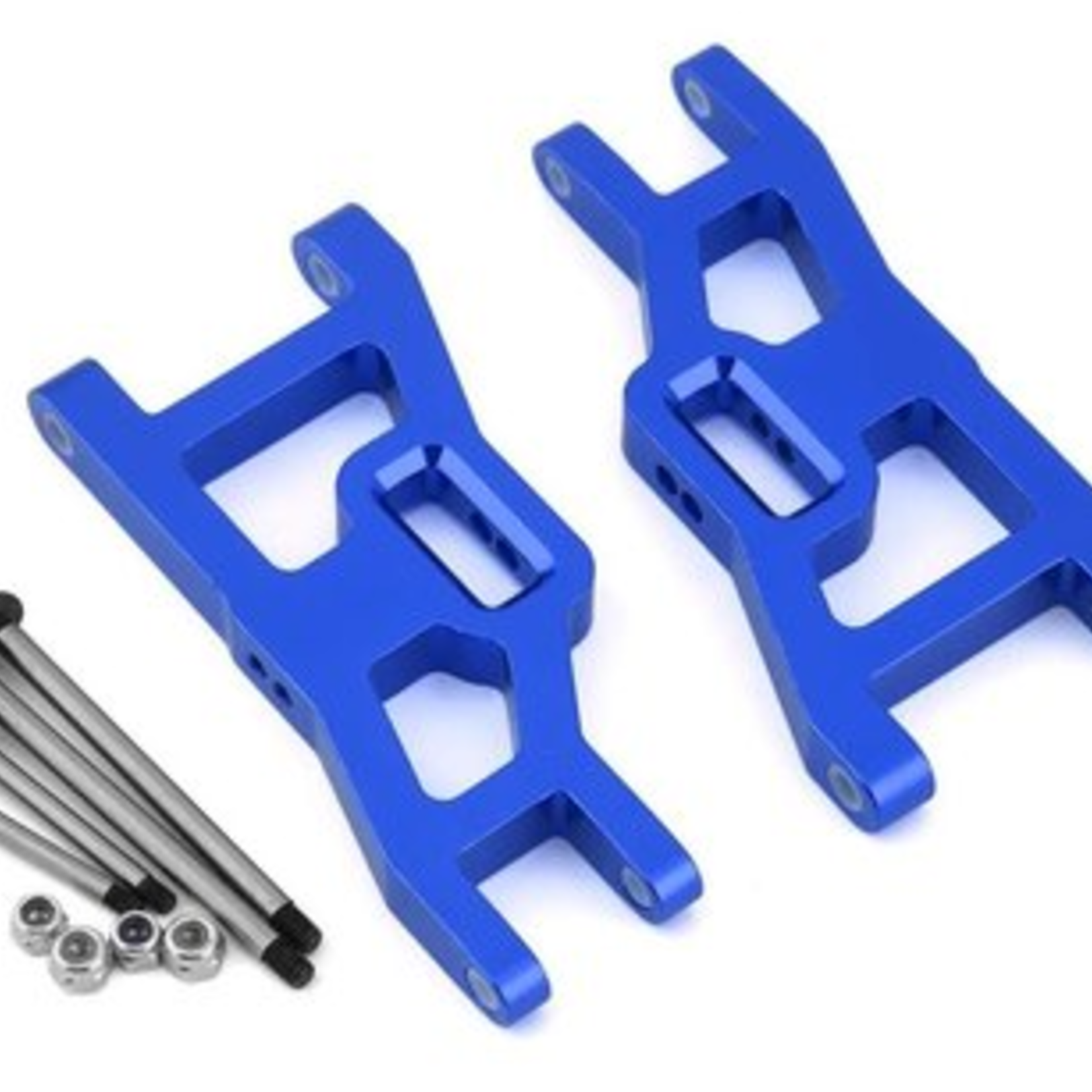 ST Racing Concepts SPTST3631XB ST Racing Concepts Heavy Duty Front Suspension Arms Kit w/ Lock-Nut Hinge-Pins, for Traxxas Rustler/Stampede (Blue)