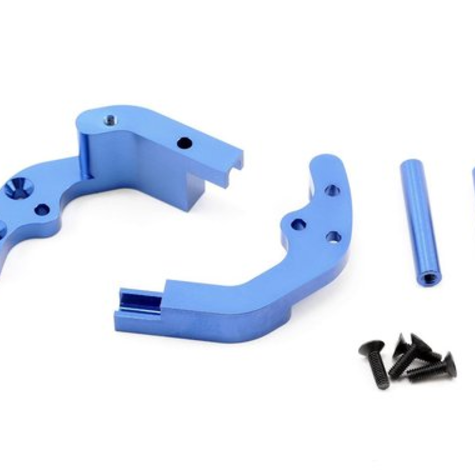 ST Racing Concepts SPTST3677B ST Racing Concepts CNC Machined Aluminum Rear Motor Guard for Traxxas cars/trucks (Blue)