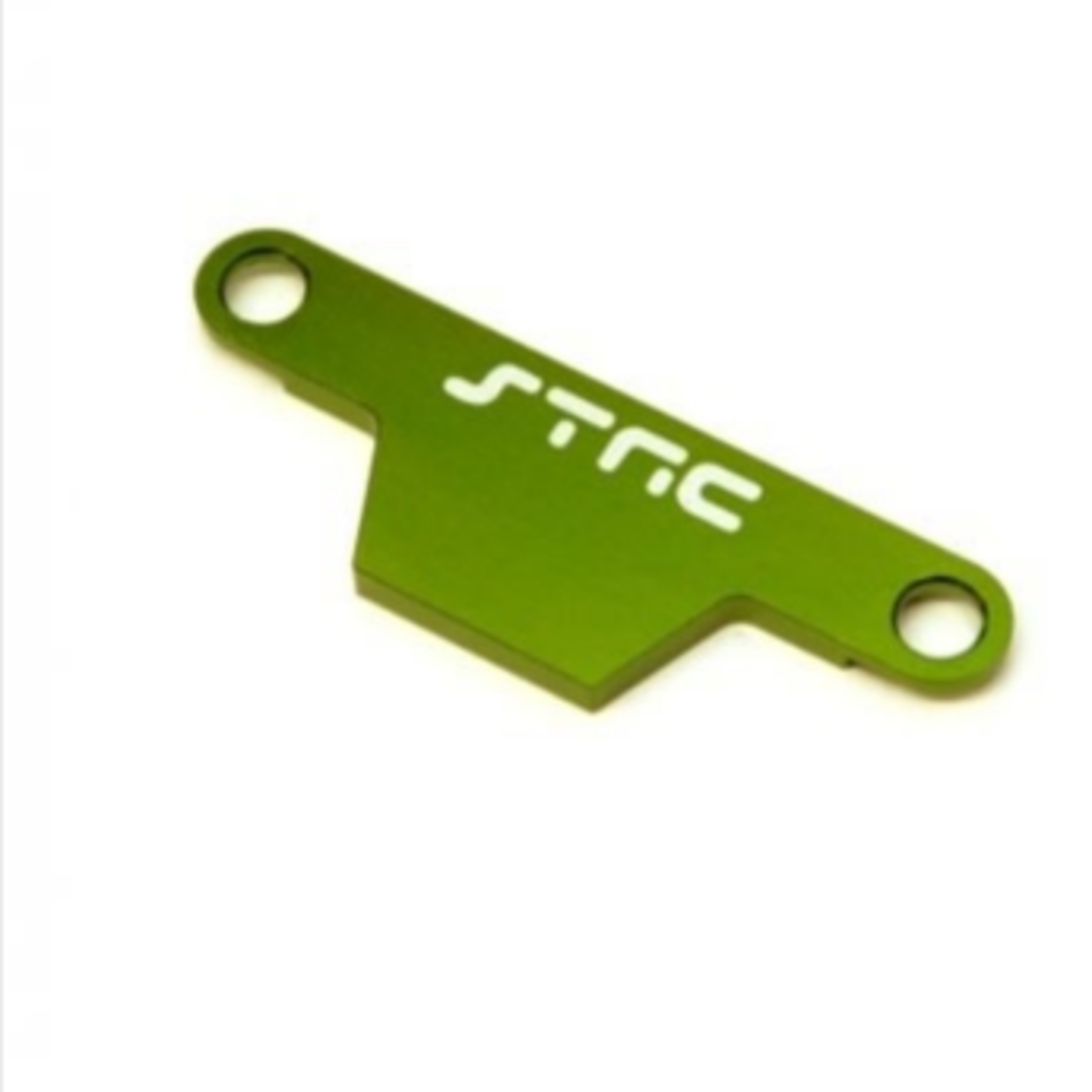 ST Racing Concepts SPTST3727AG ST Racing Concepts CNC Machined Alum. Battery Hold-down Plate for Rustler/Bandit (Green)