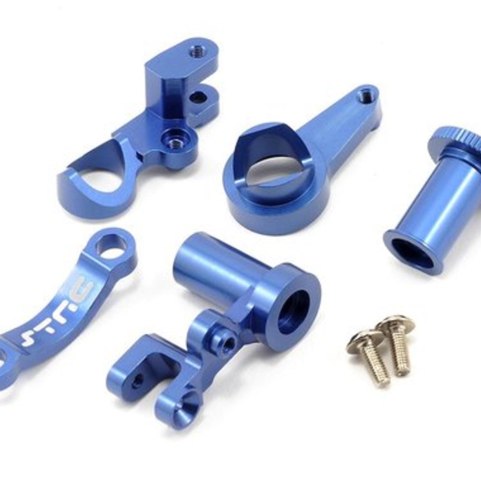 ST Racing Concepts SPTST6845B ST Racing Concepts CNC Machined Aluminum Multi-Piece STeering Bellcrank set (Blue)