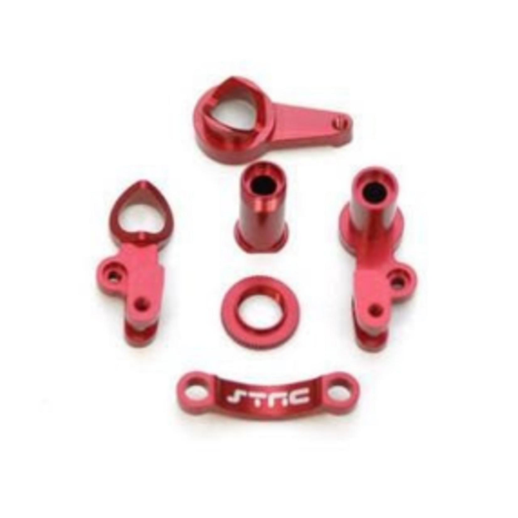 ST Racing Concepts SPTST6845R ST Racing Concepts CNC Machined Aluminum Multi-Piece STeering Bellcrank set (Red)